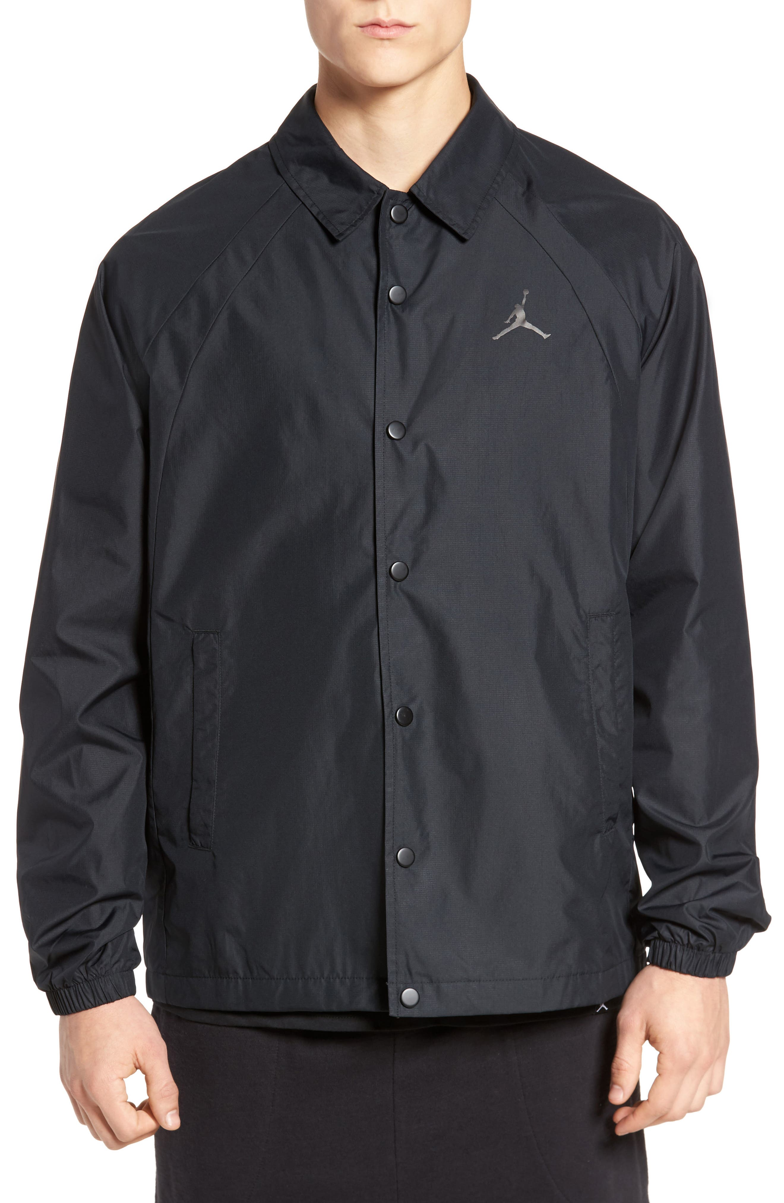 Nike Wings Coach's Jacket,                         Main,                         color, Black/ Black