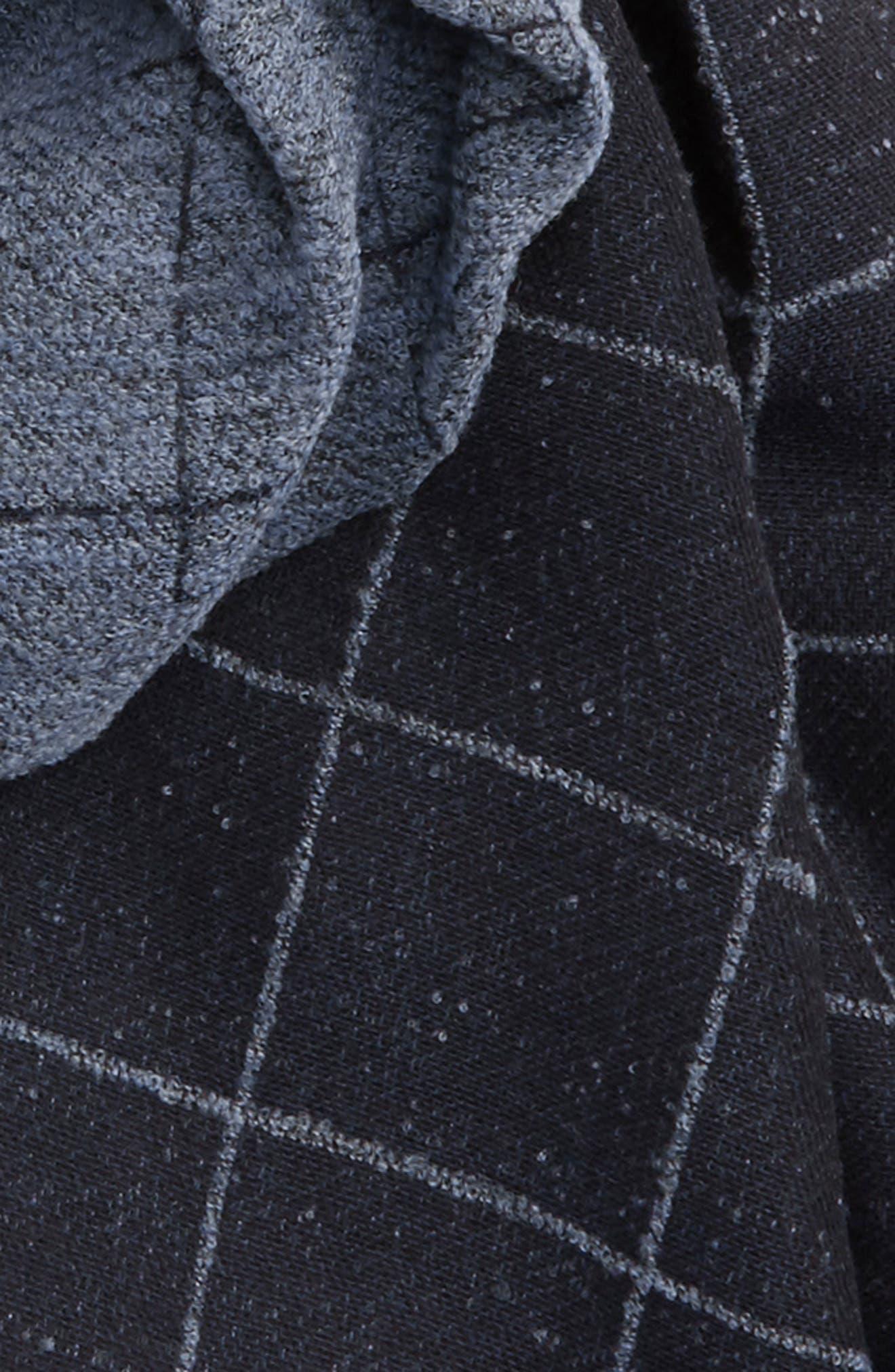 Windowpane Wool Blend Scarf,                             Alternate thumbnail 3, color,                             Blue