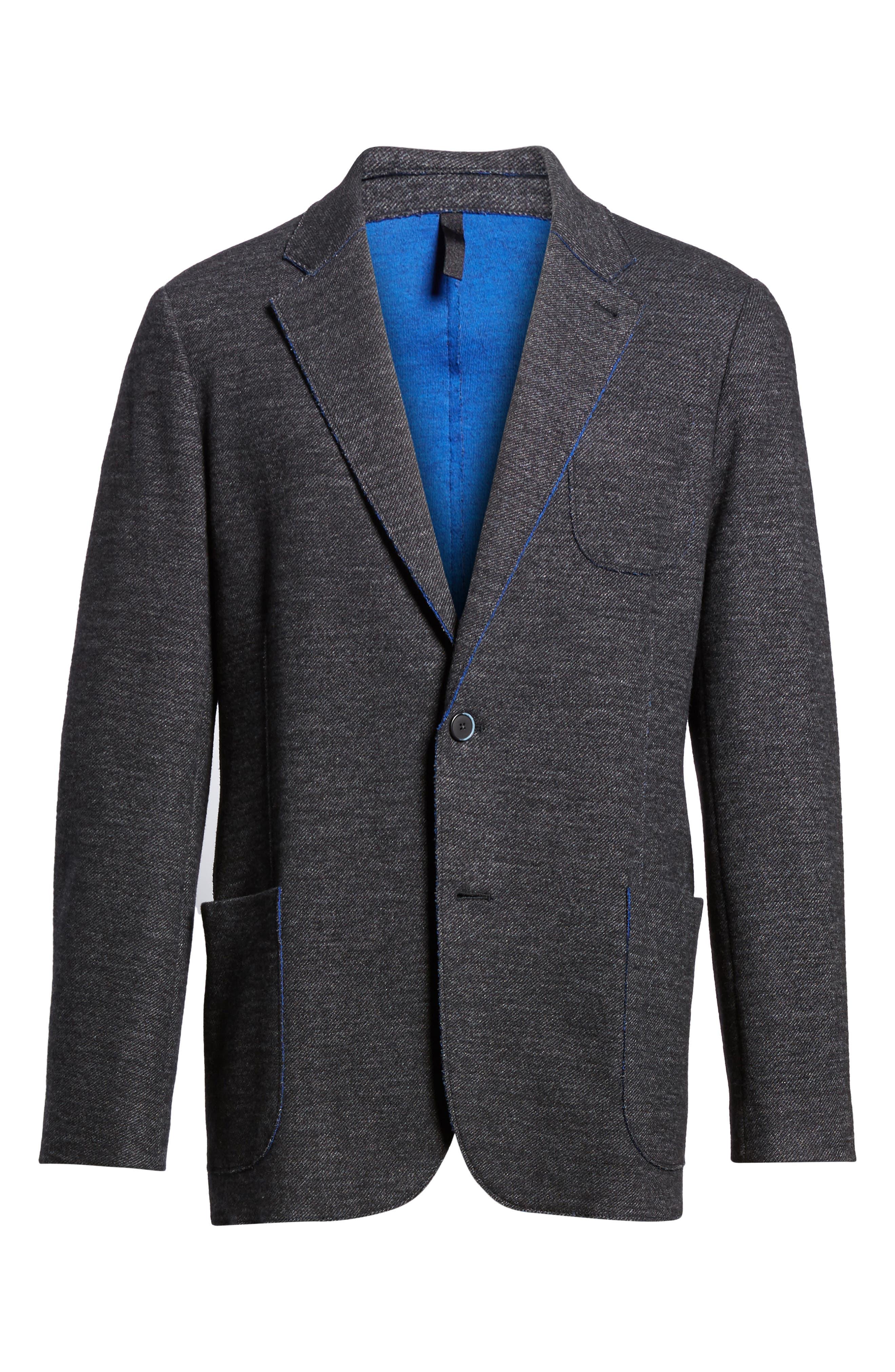 Alternate Image 6  - Bugatchi Raw Edge Cotton Blend Blazer