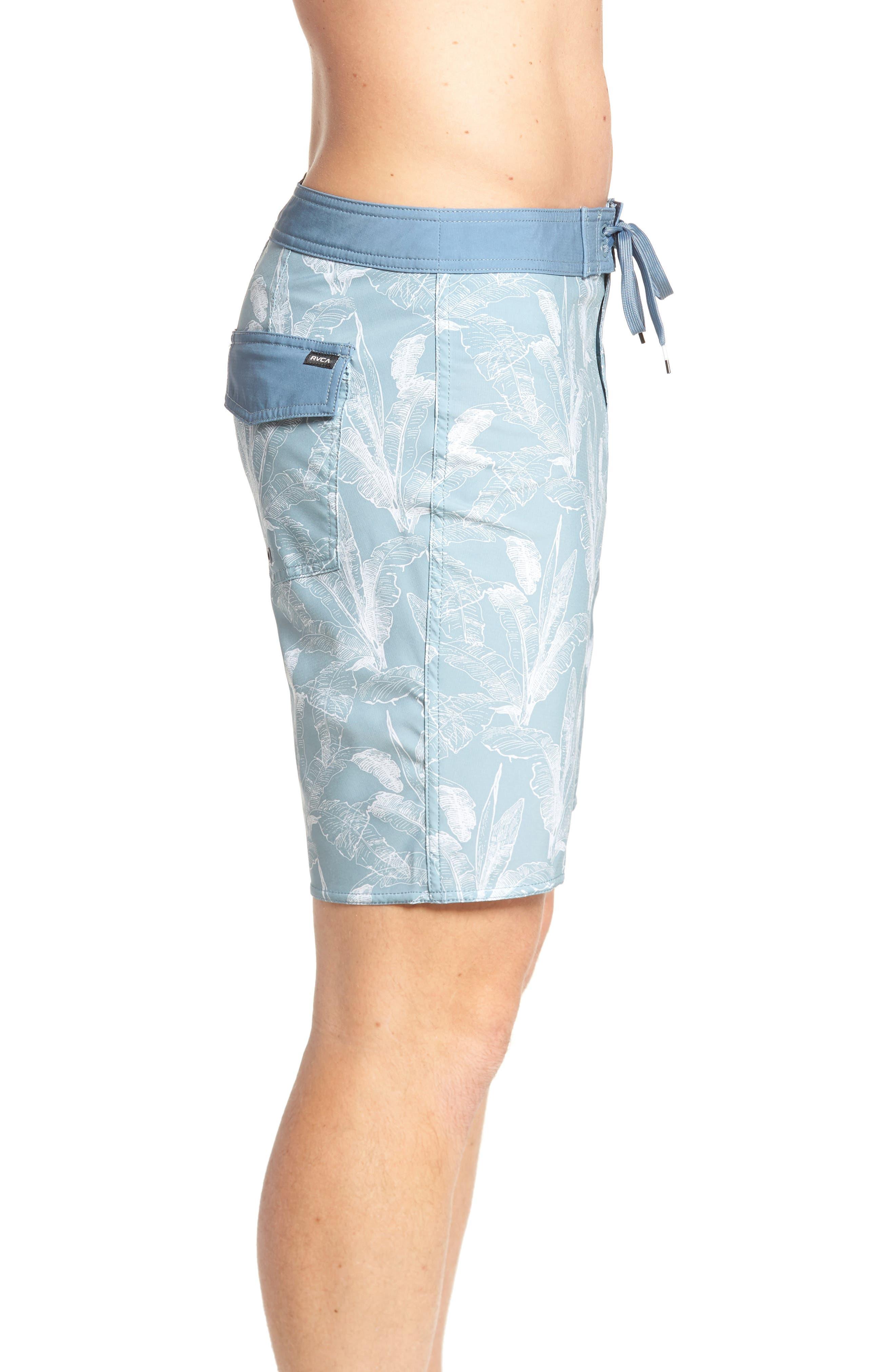 Mirage Print Board Shorts,                             Alternate thumbnail 4, color,                             Arona Blue