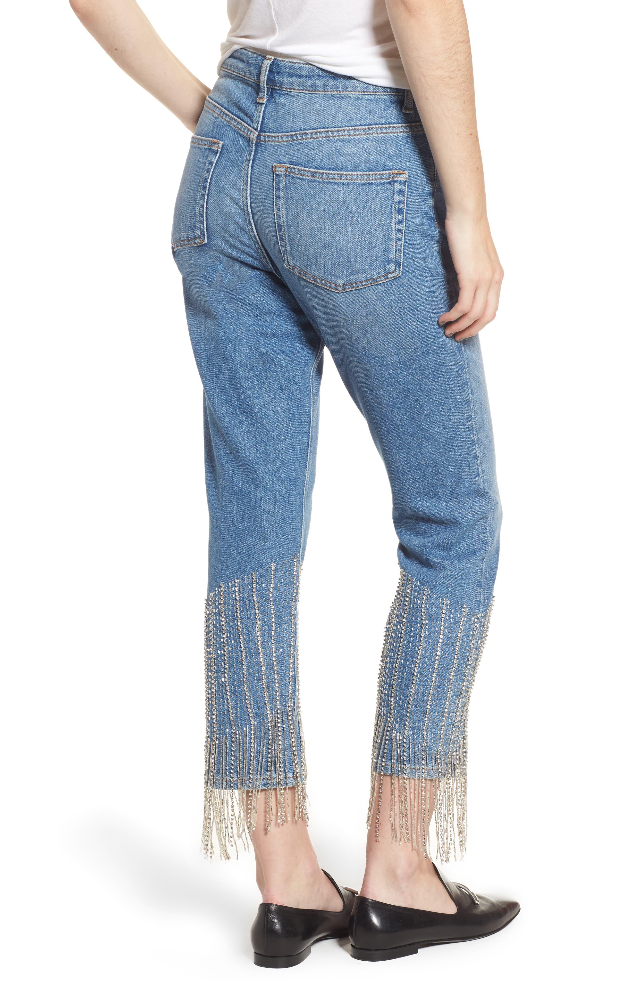 Alternate Image 2  - Topshop Crystal Embellished Moto Jeans