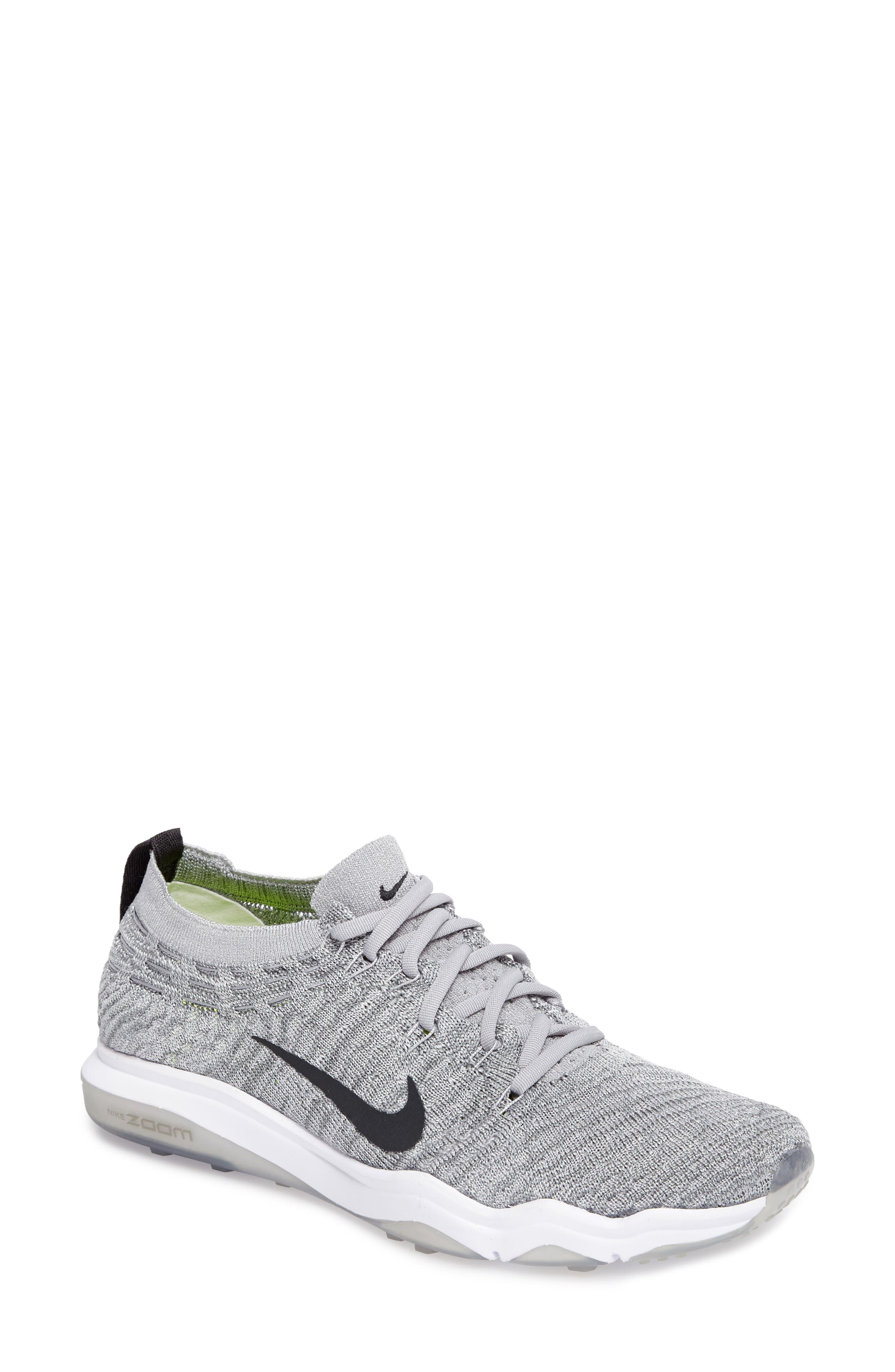 Women'S Air Zoom Fearless Flyknit Lux Running Sneakers From Finish Line in Wolf Grey Anthracite White