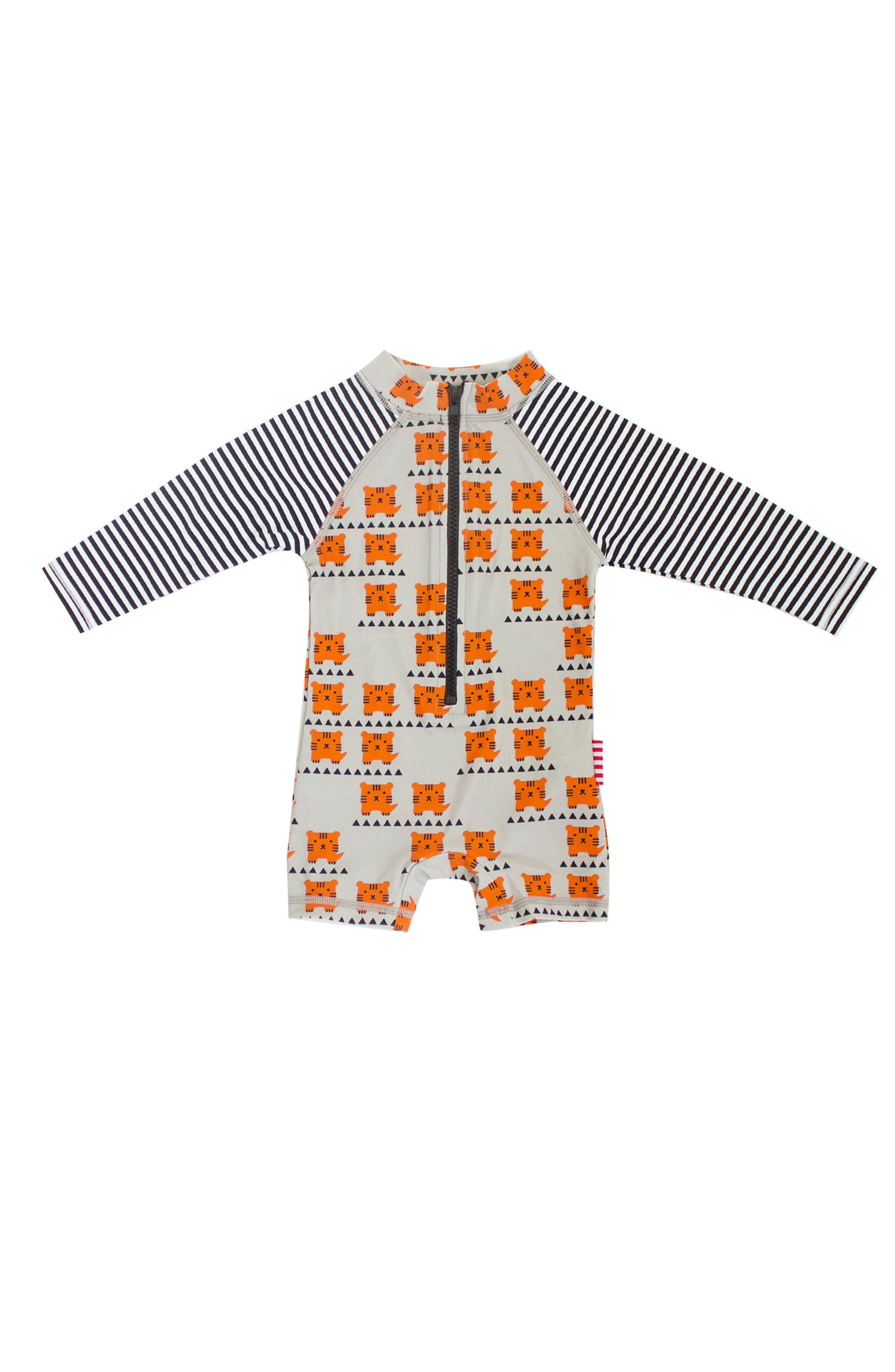 SOOKIbaby Cub In The Hub One-Piece Rashguard Swimsuit (Baby Boys)
