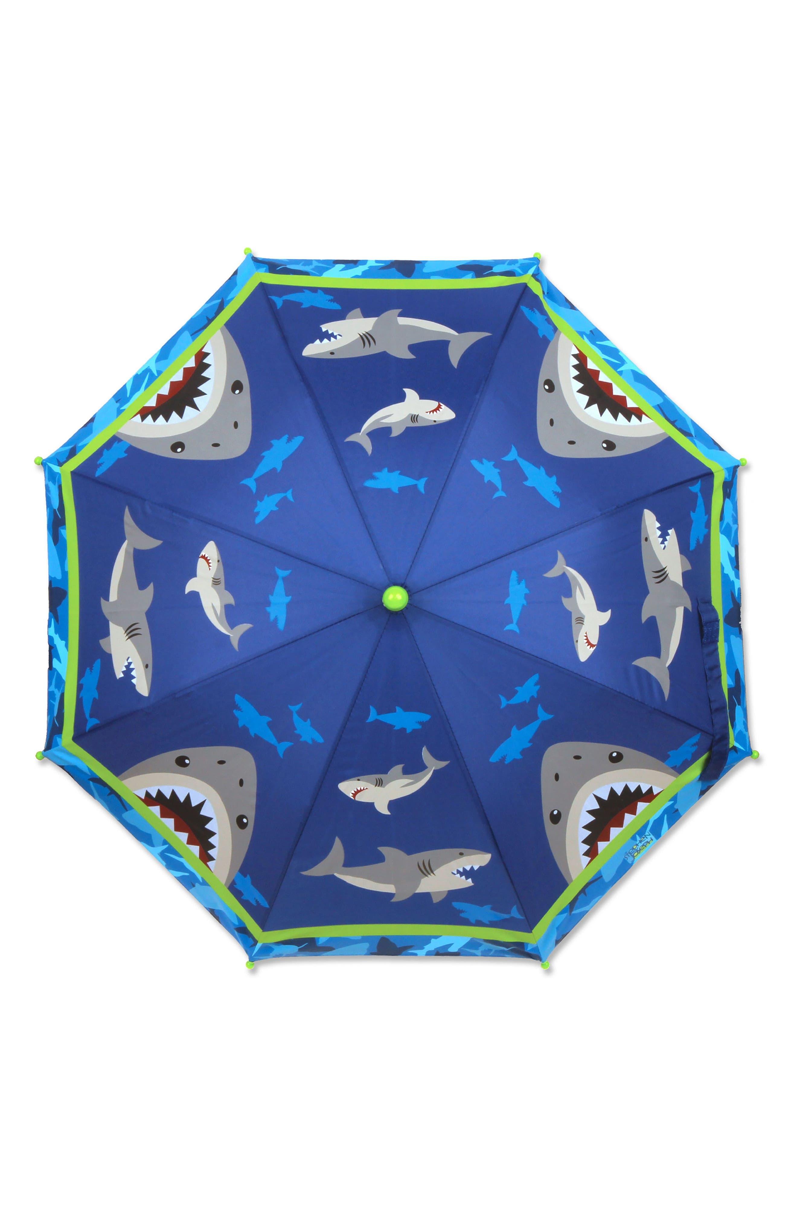 Alternate Image 6  - Stephen Joseph Shark Rain Boots & Umbrella Set (Little Boys & Big Boys)