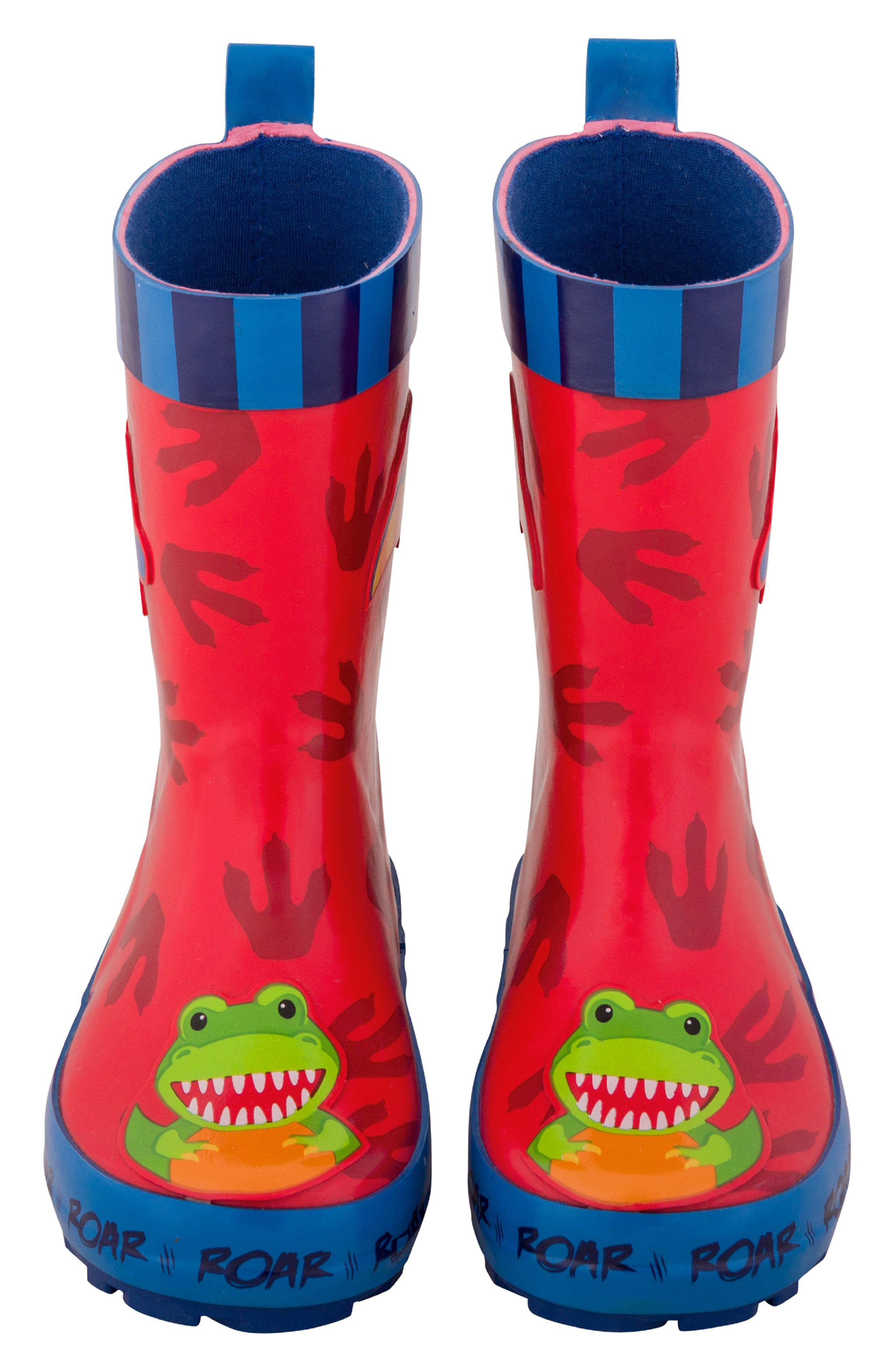 Dinosaur Truck Rain Boots & Umbrella Set,                             Alternate thumbnail 3, color,                             Dino