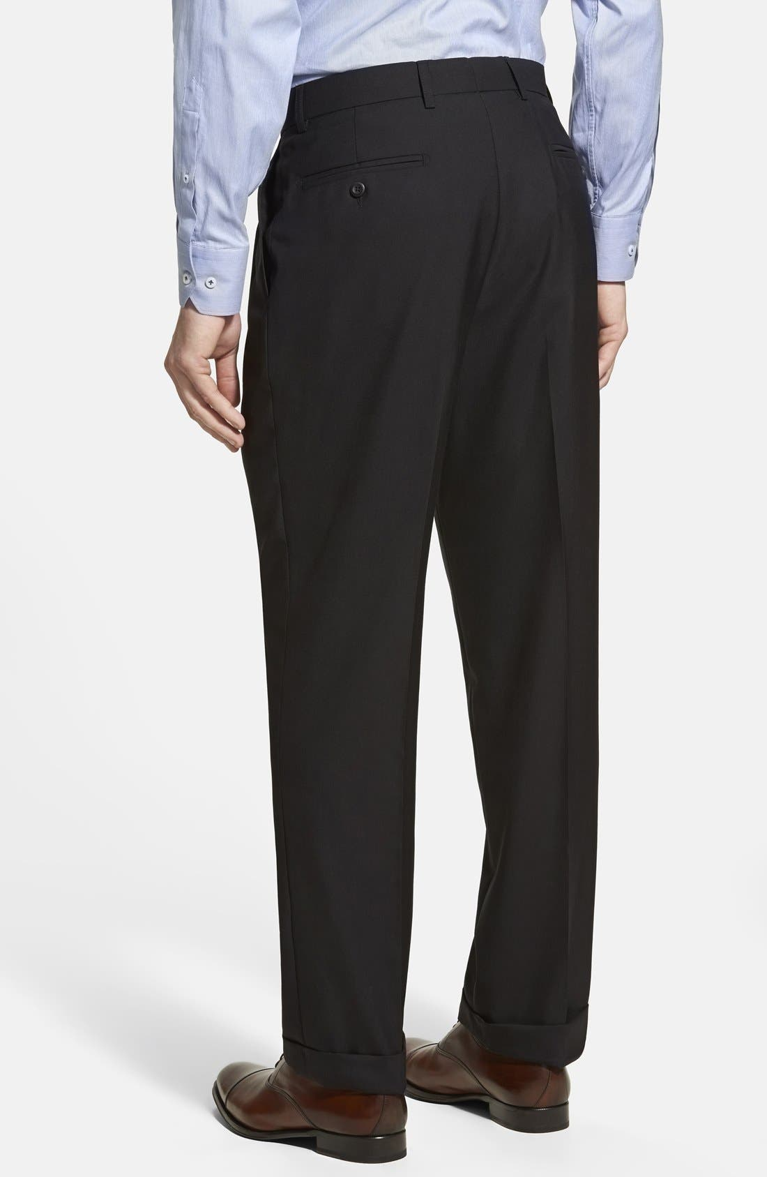 Alternate Image 2  - Linea Naturale Pleated Wool Dress Pants