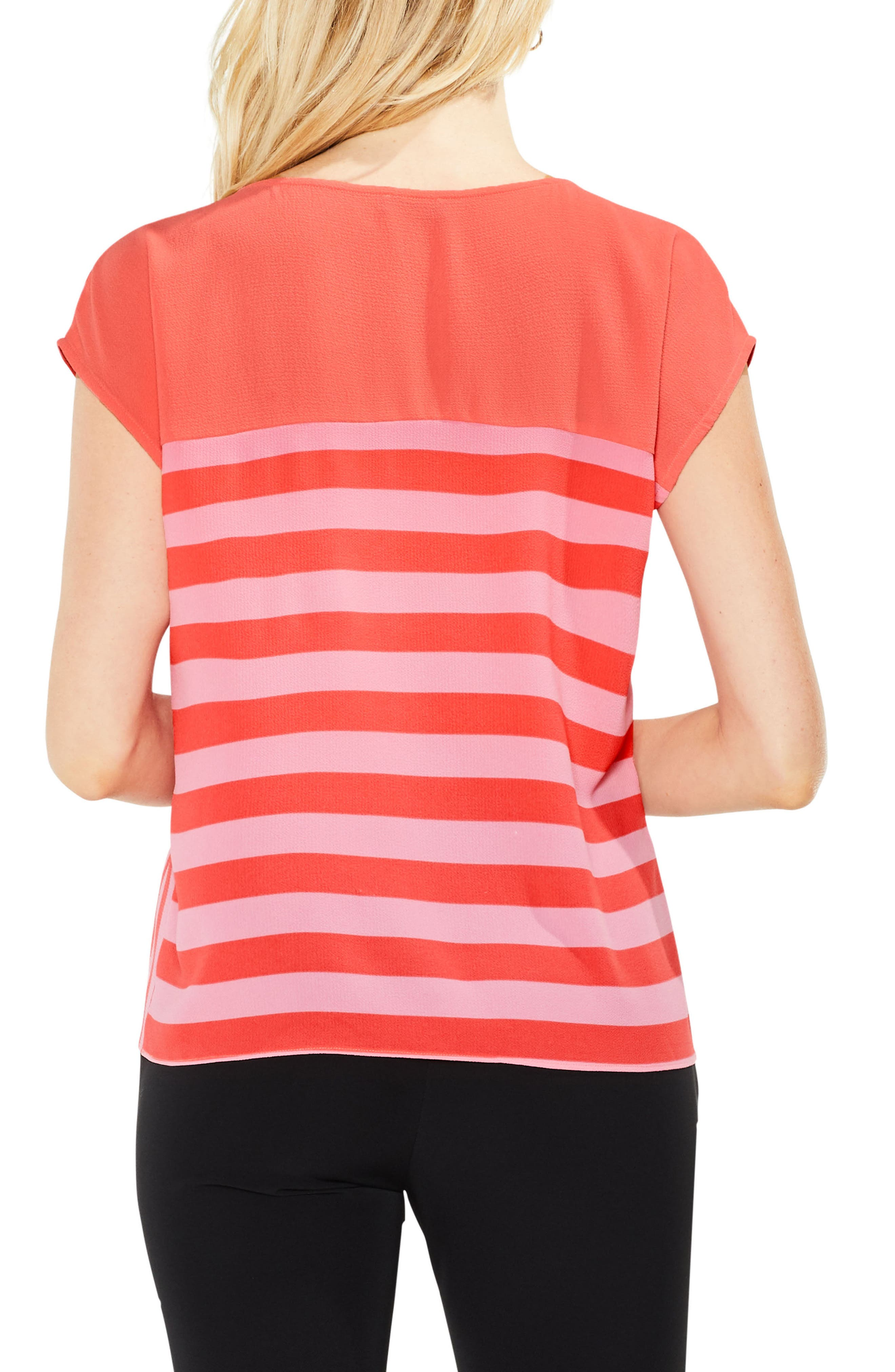 Alternate Image 2  - Vince Camuto Mixed Stripe Top