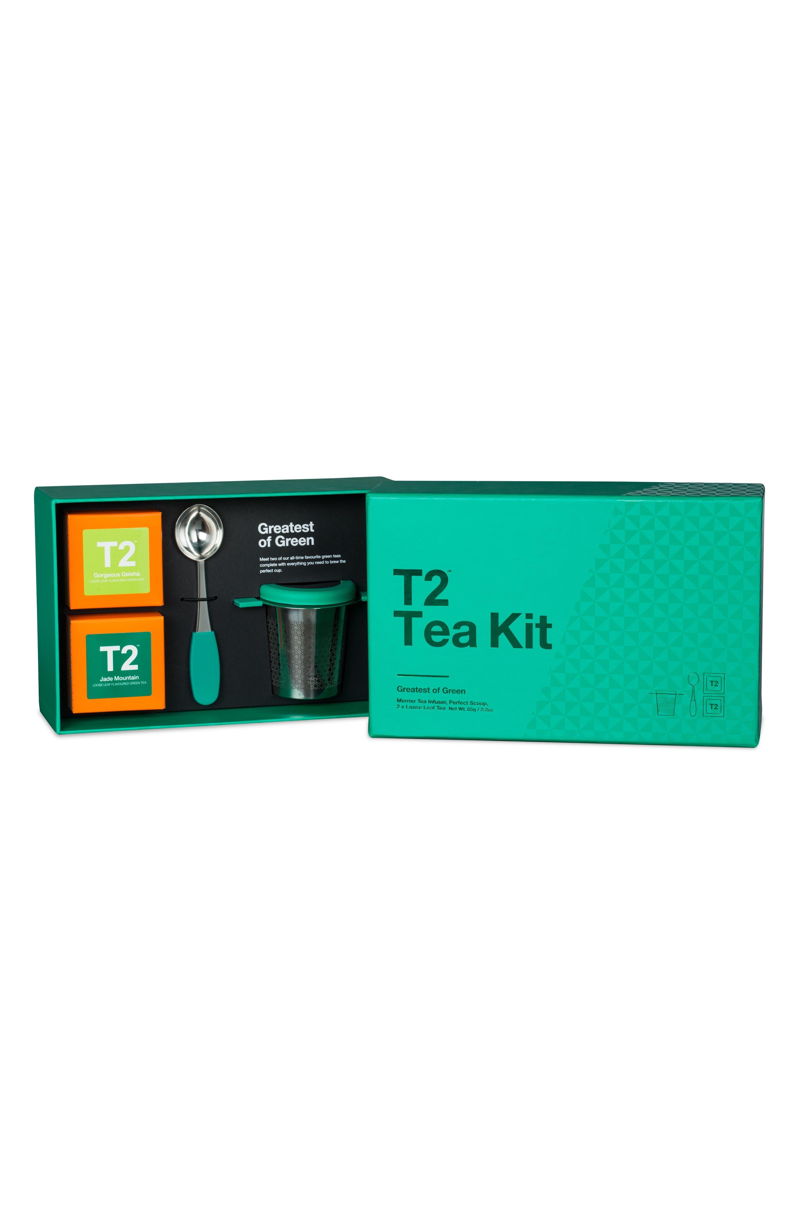 Greatest of Green Loose Leaf Tea Box Set,                             Alternate thumbnail 2, color,                             Multi