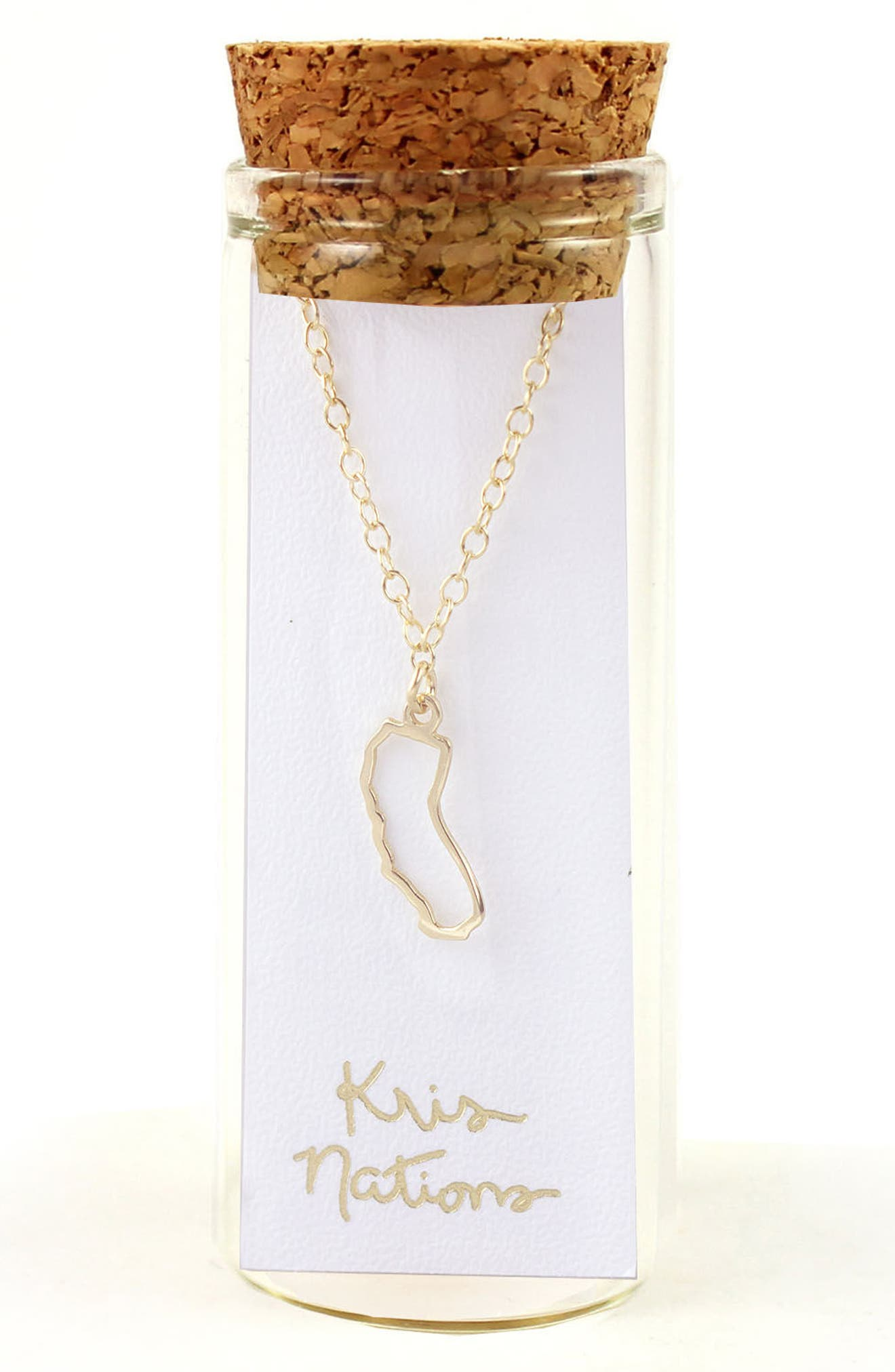 Alternate Image 2  - Kris Nations State Outline Charm Necklace