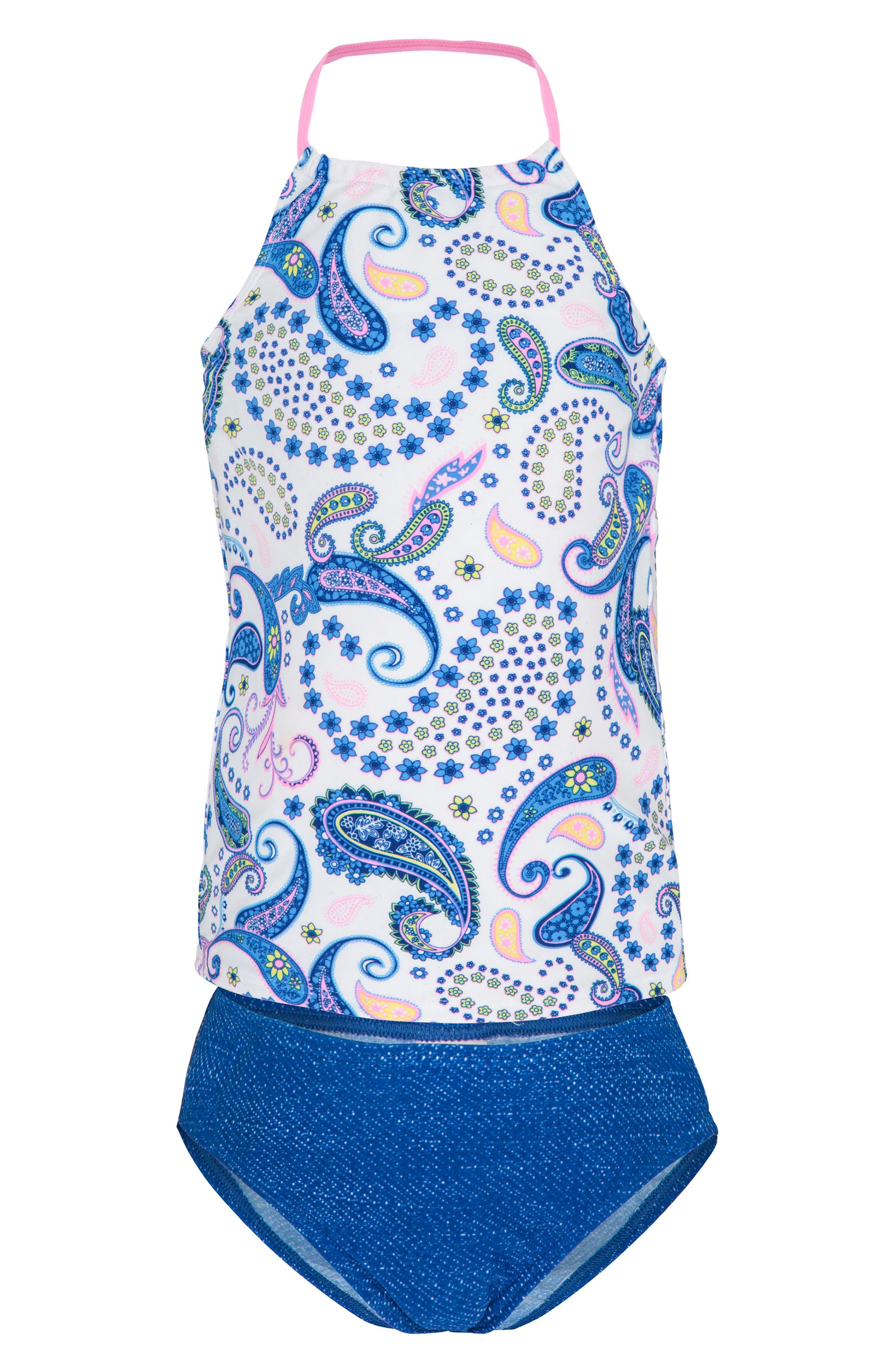 Two-Piece Tankini Swimsuit,                         Main,                         color, Boho Paisley