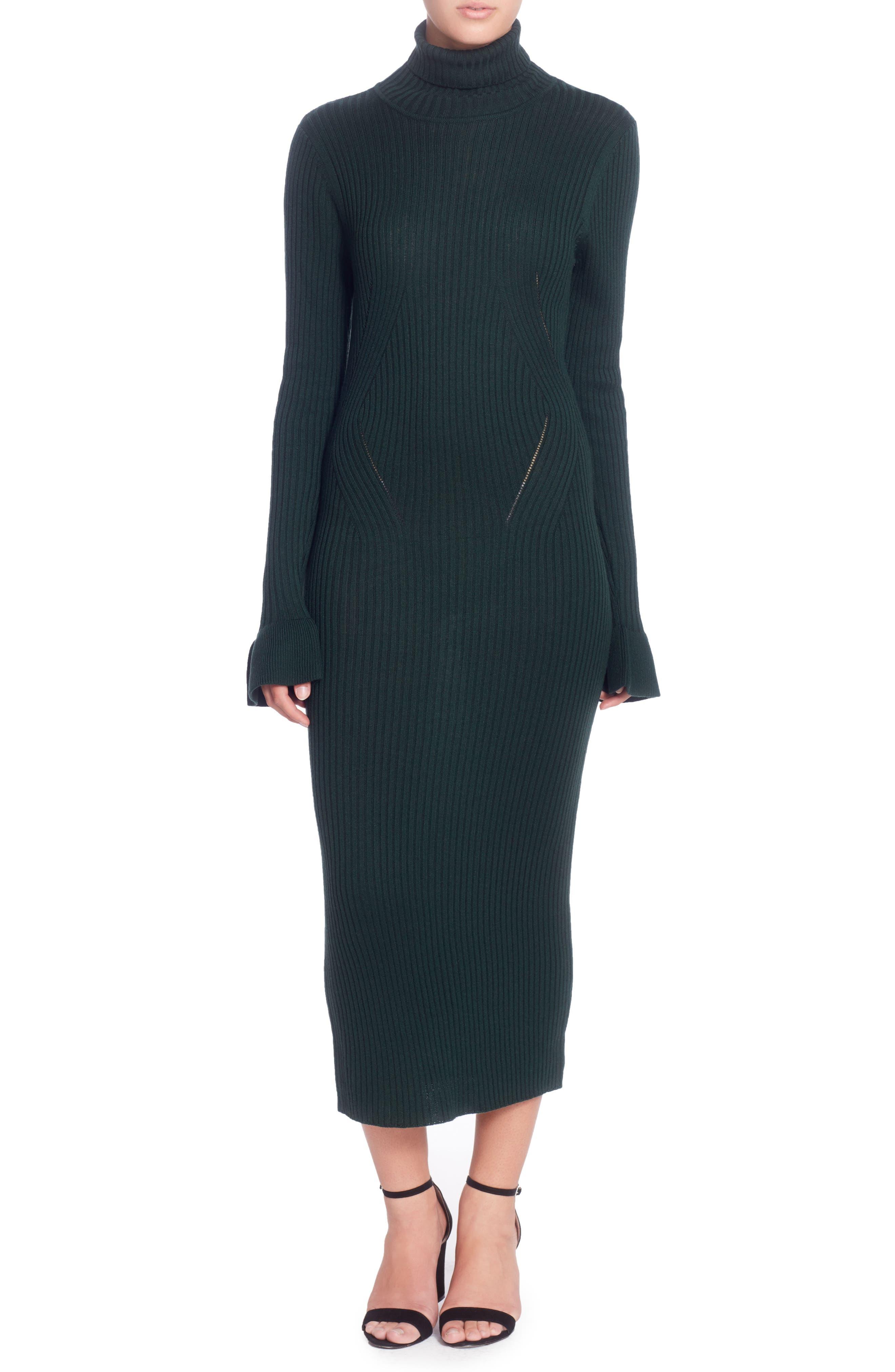 Main Image - Catherine Catherine Malandrino Camron Turtleneck Midi Dress