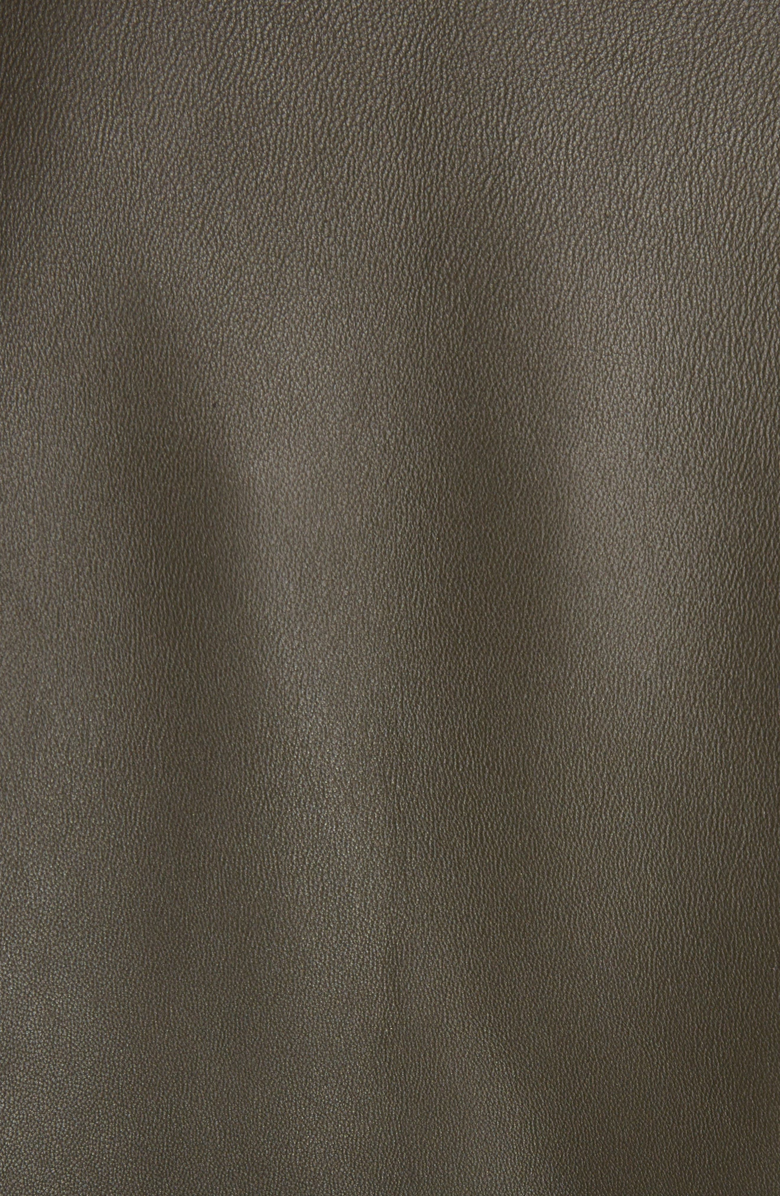 Myrtle Leather Jacket,                             Alternate thumbnail 6, color,                             Dark Khaki
