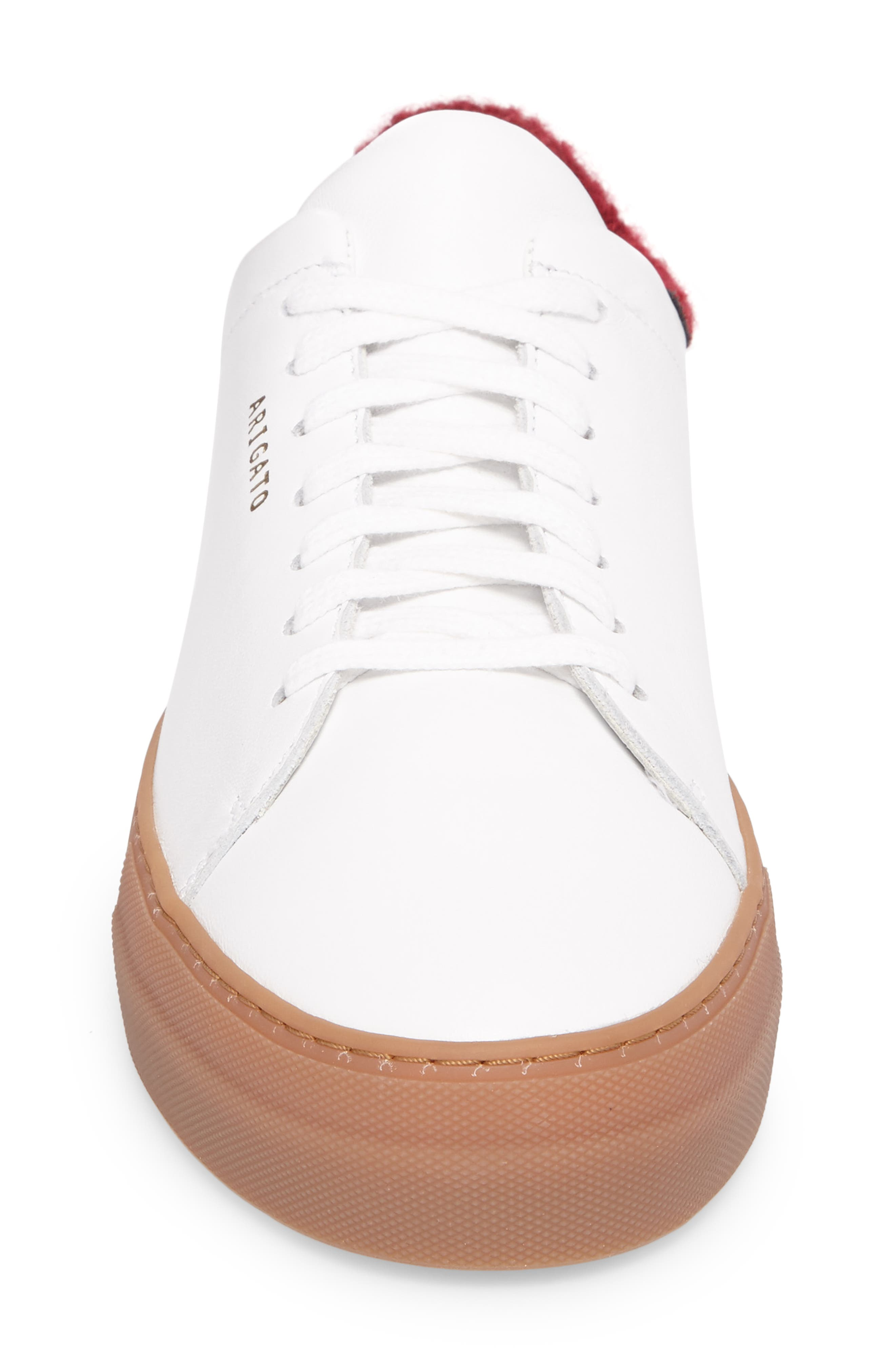 Clean 360 Fuzzy Heel Sneaker,                             Alternate thumbnail 4, color,                             White