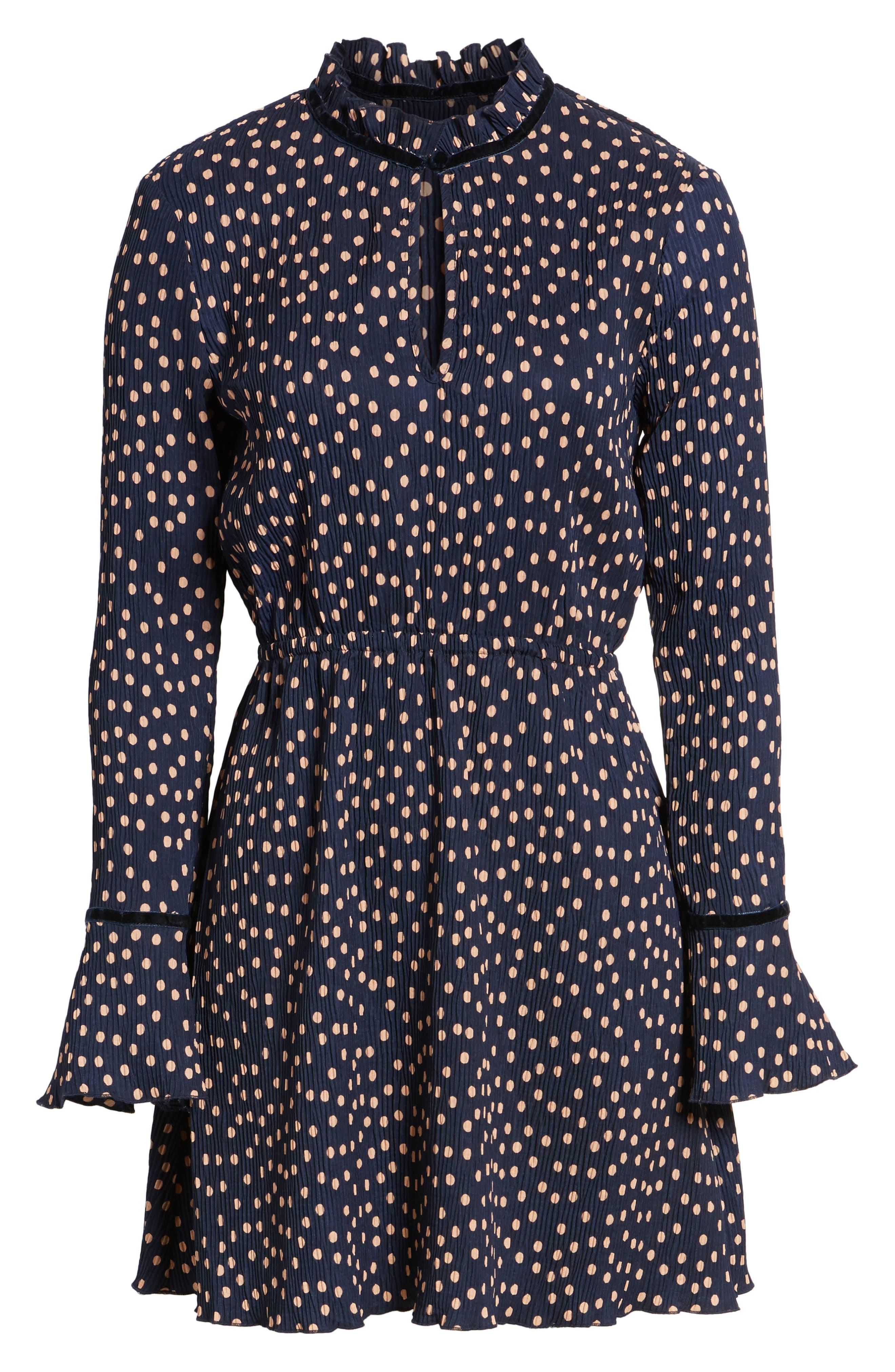 Atlanta Dress,                             Alternate thumbnail 7, color,                             Navy W Peach