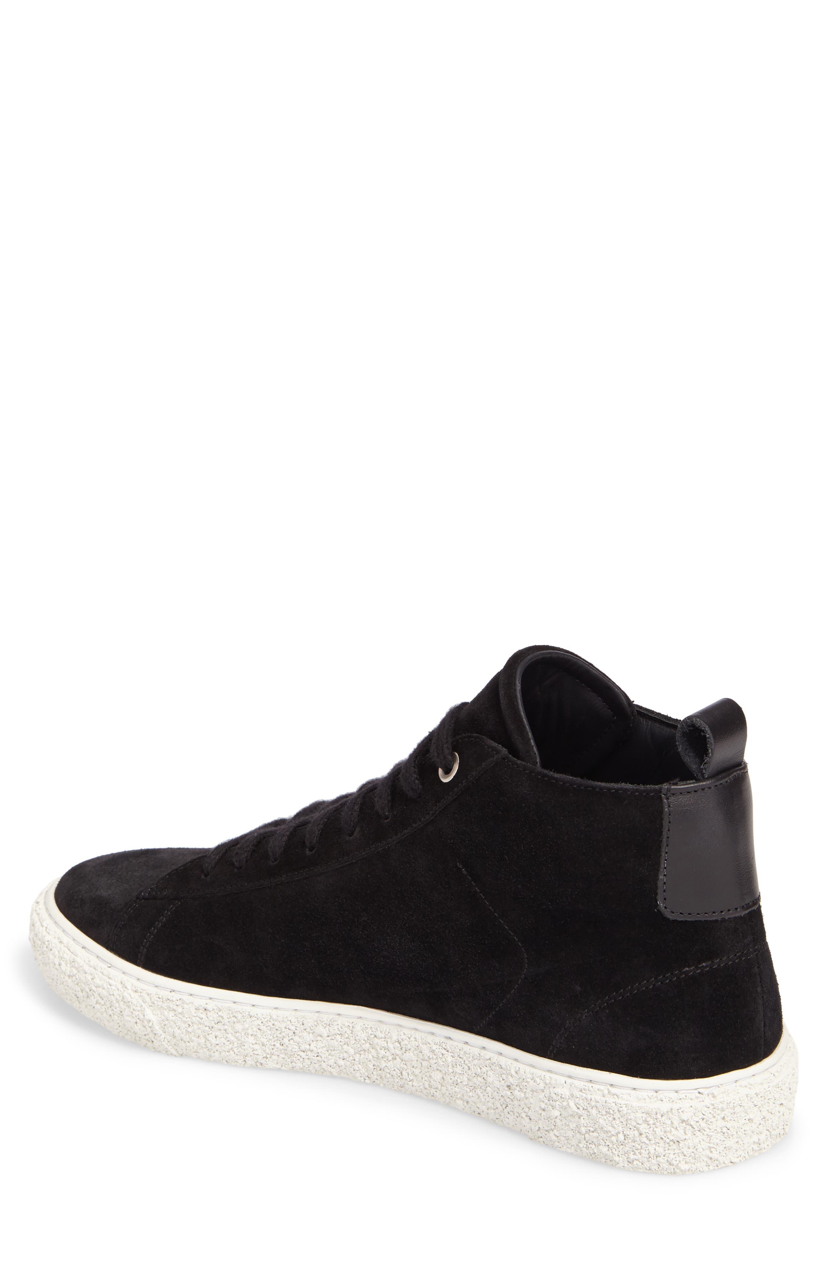 Chukka Sneaker,                             Alternate thumbnail 2, color,                             Black Suede