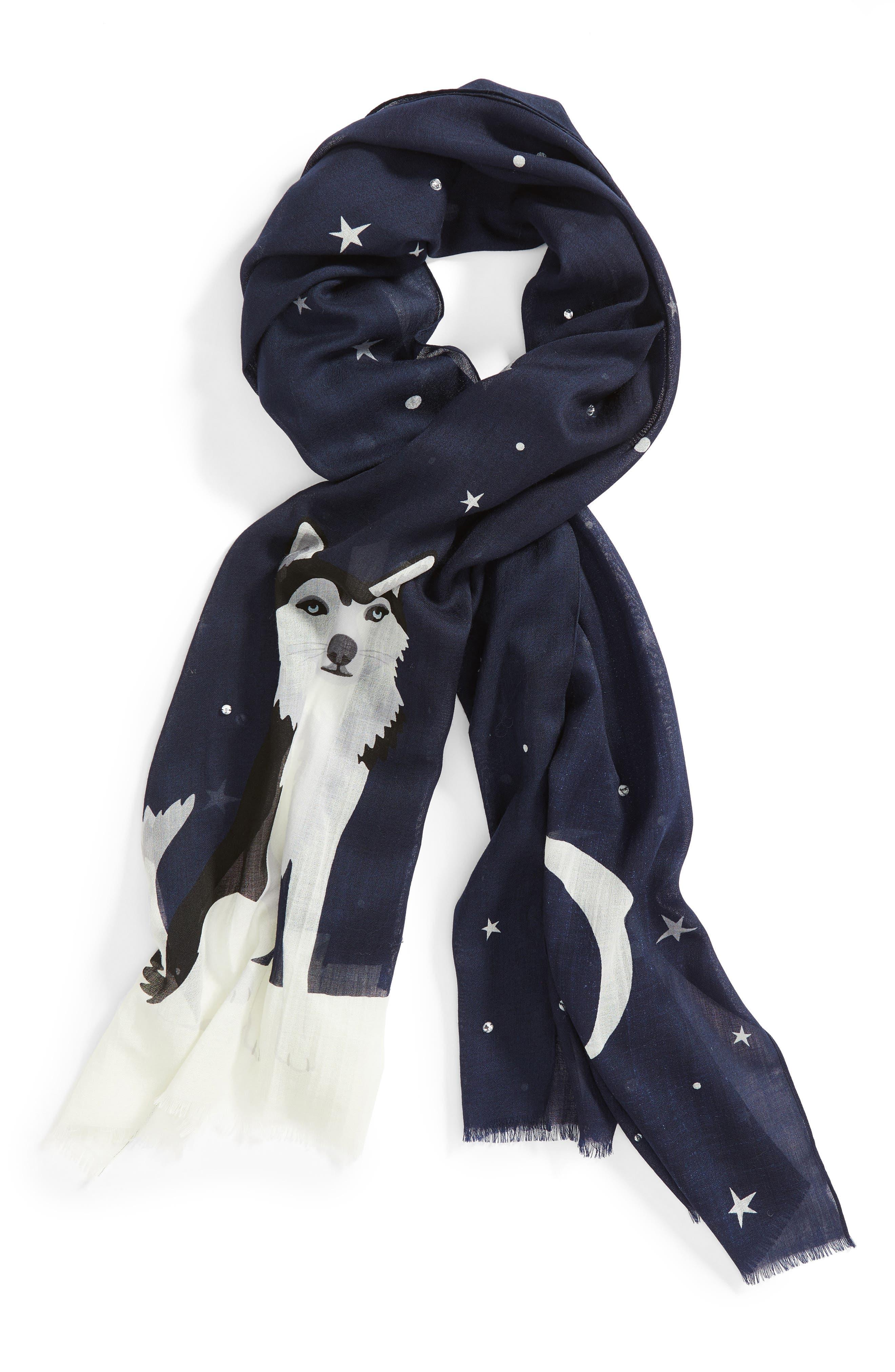 Alternate Image 4  - kate spade new york husky dog oblong wool scarf