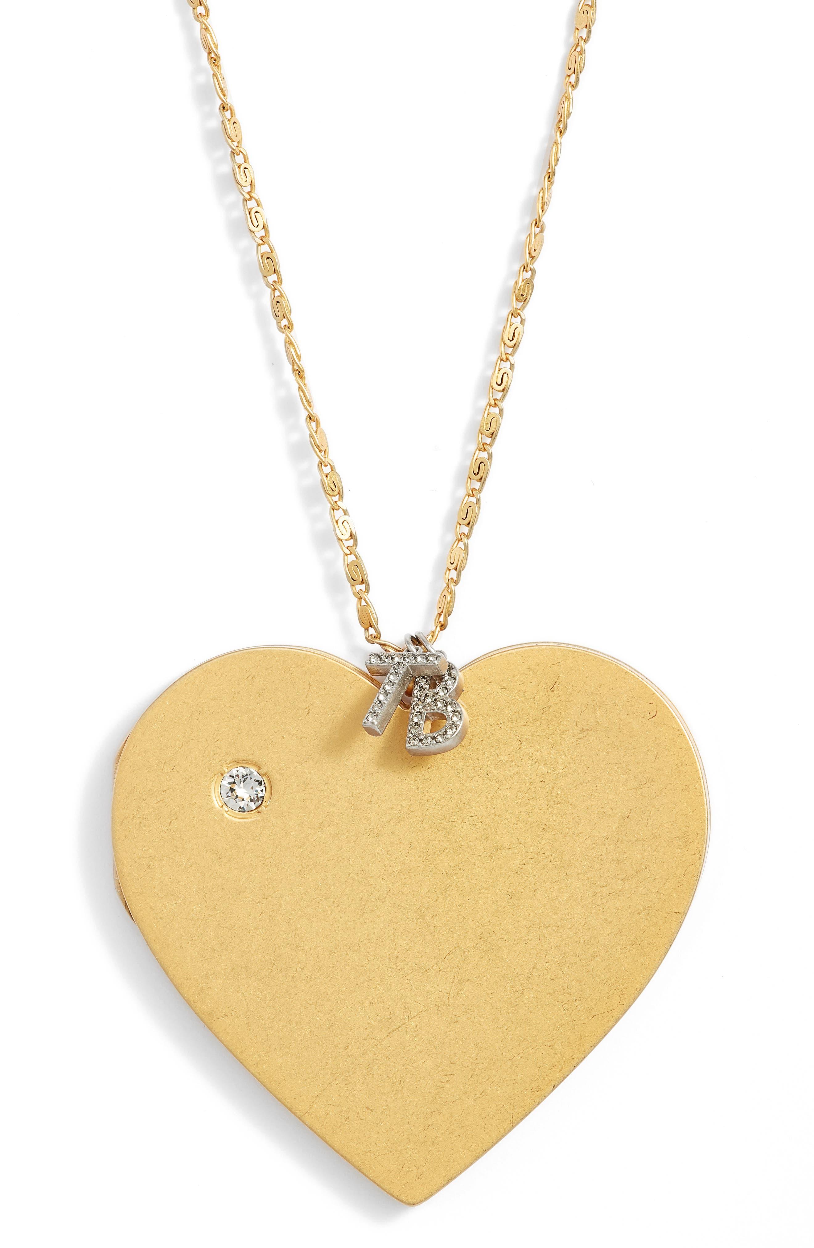 Heart Locket Pendant Necklace,                             Alternate thumbnail 2, color,                             Vintage Gold
