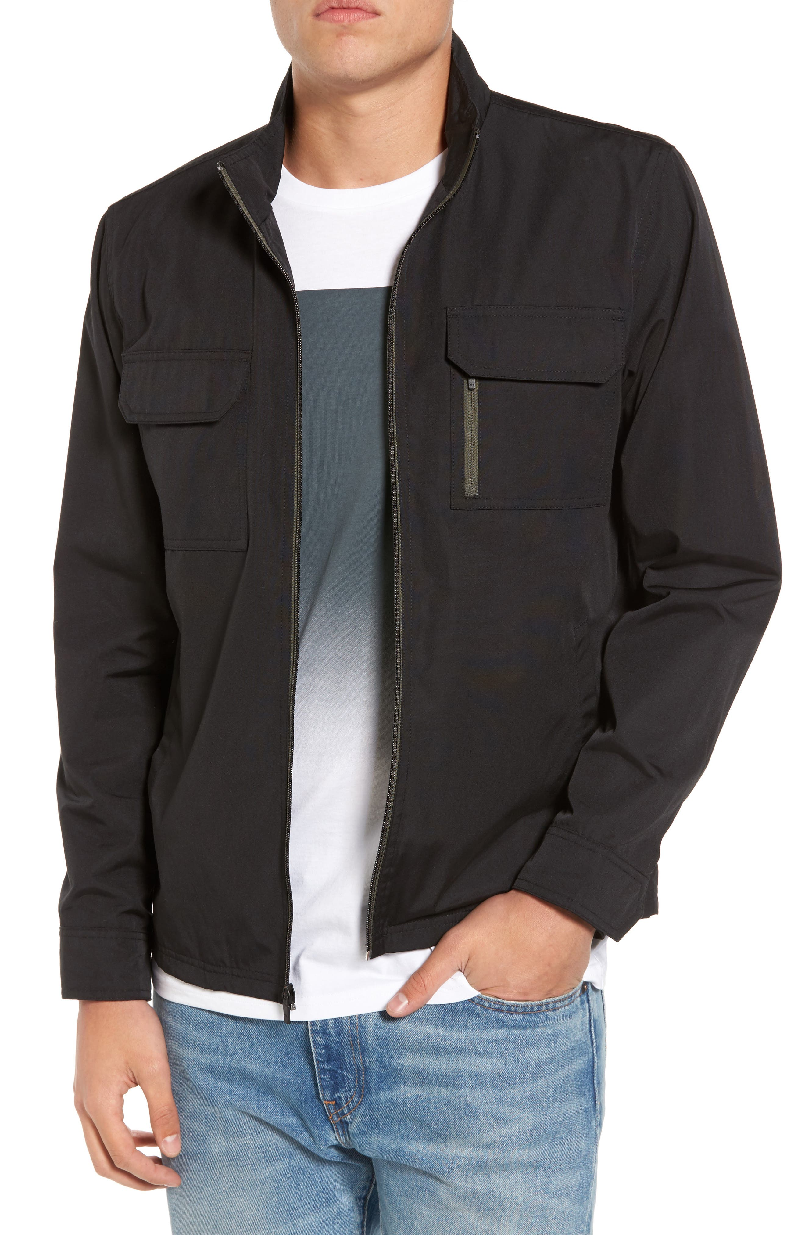 Staple Jacket,                             Main thumbnail 1, color,                             Solid Black