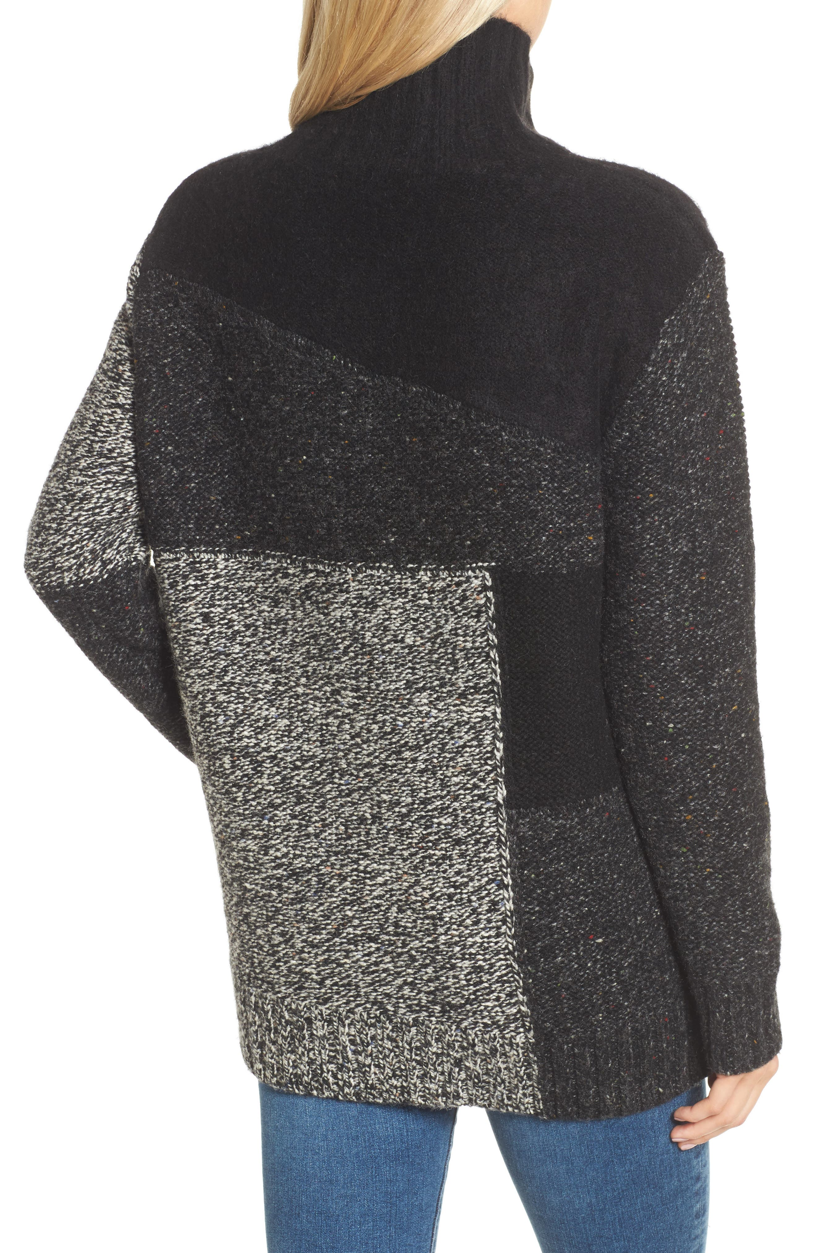 Alternate Image 2  - French Connection Anna Patchwork Turtleneck