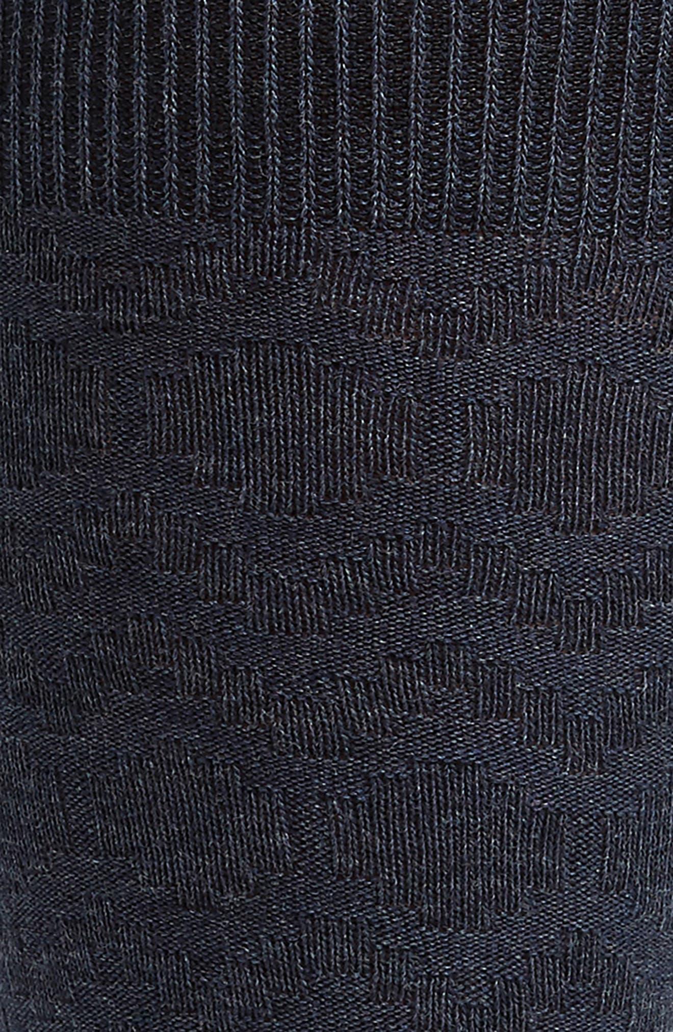 Alternate Image 2  - Calibrate Rug Stripe Texture Socks