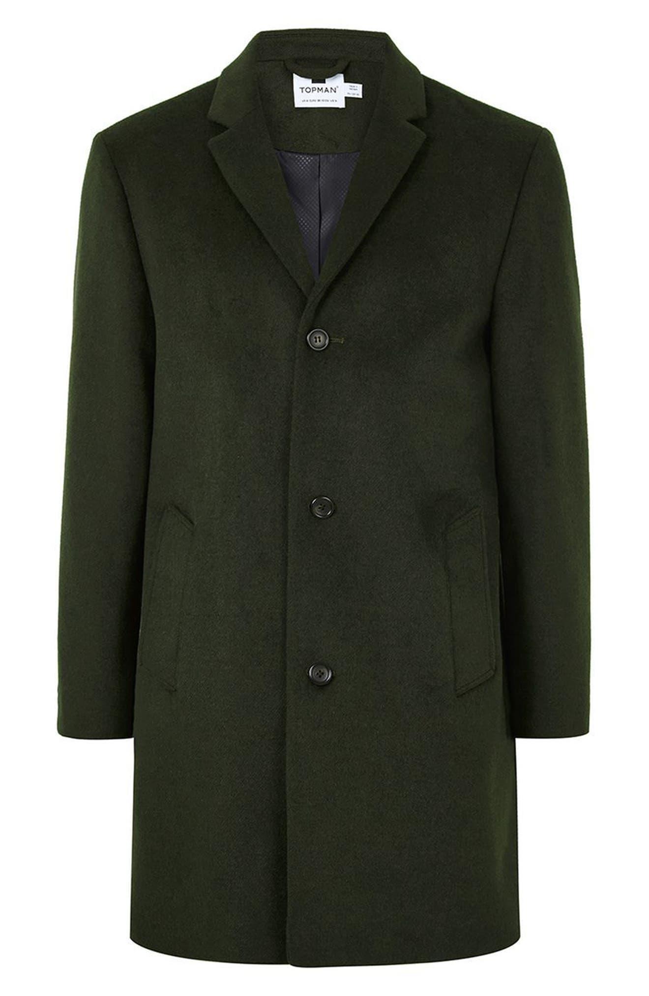 Alternate Image 4  - Topman Khaki Overcoat