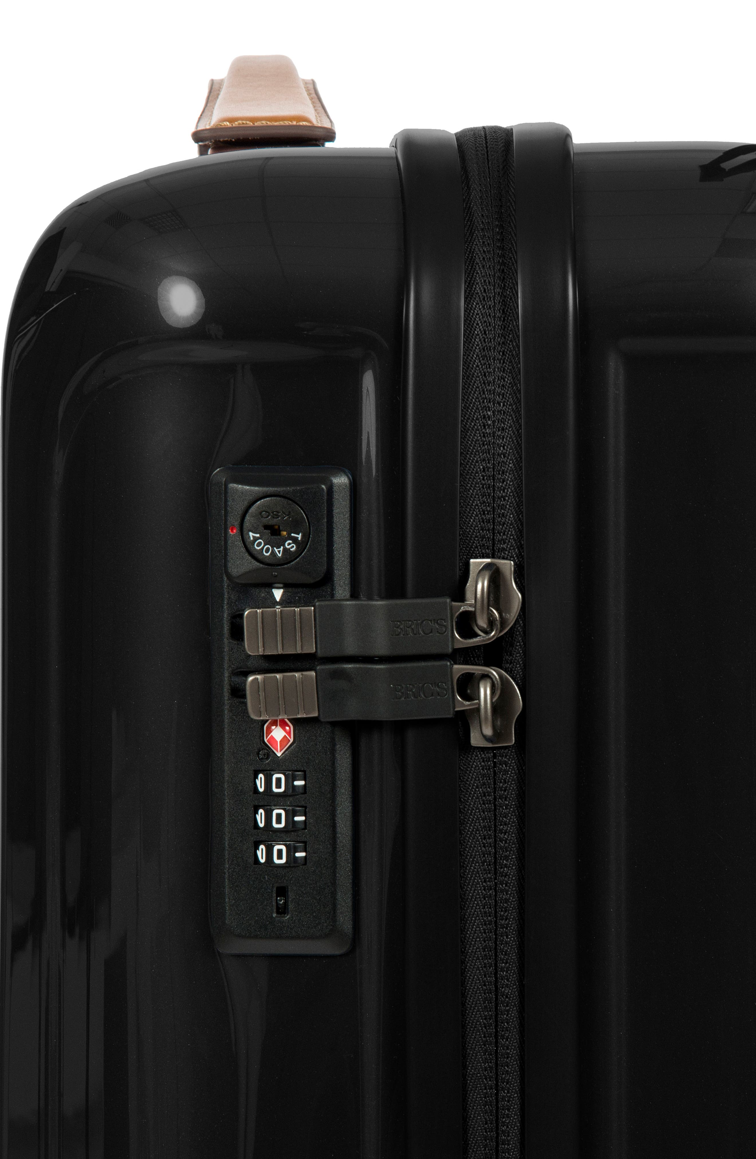 Capri 21-Inch Spinner Carry-On,                             Alternate thumbnail 7, color,                             Black