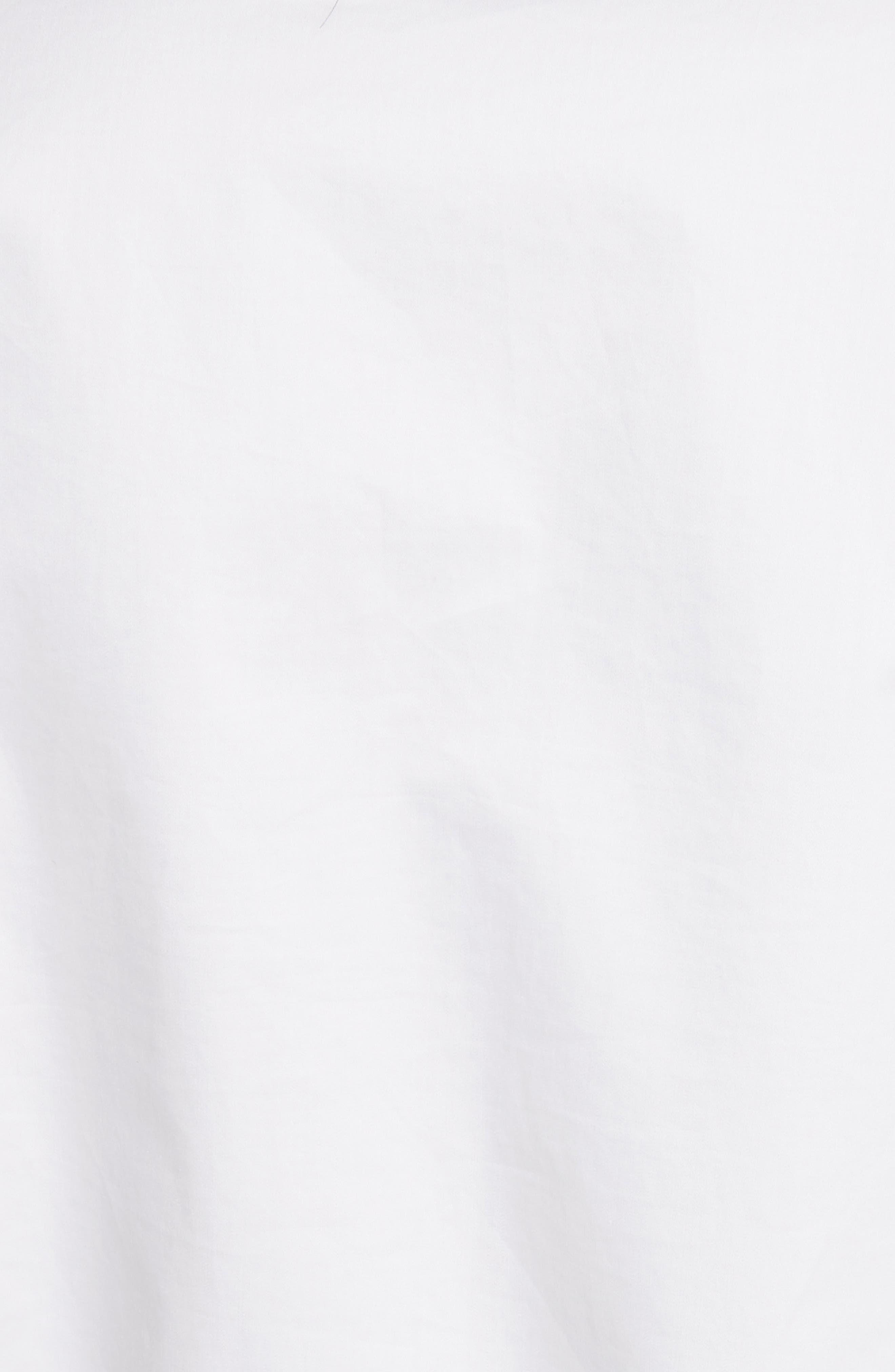 Tie Neck Cotton Top,                             Alternate thumbnail 5, color,                             White