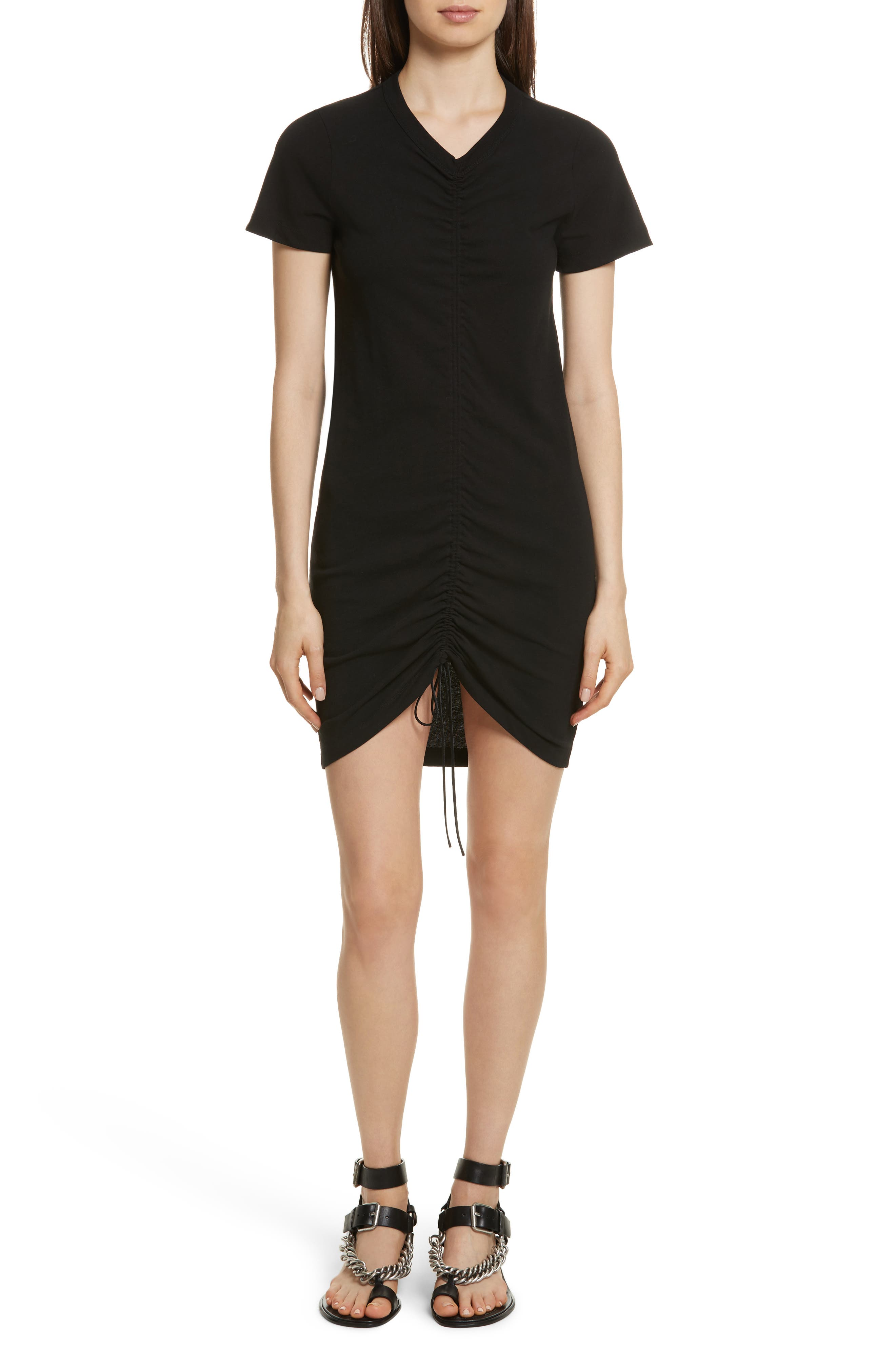 Alternate Image 1 Selected - T by Alexander Wang Gathered T-Shirt Dress