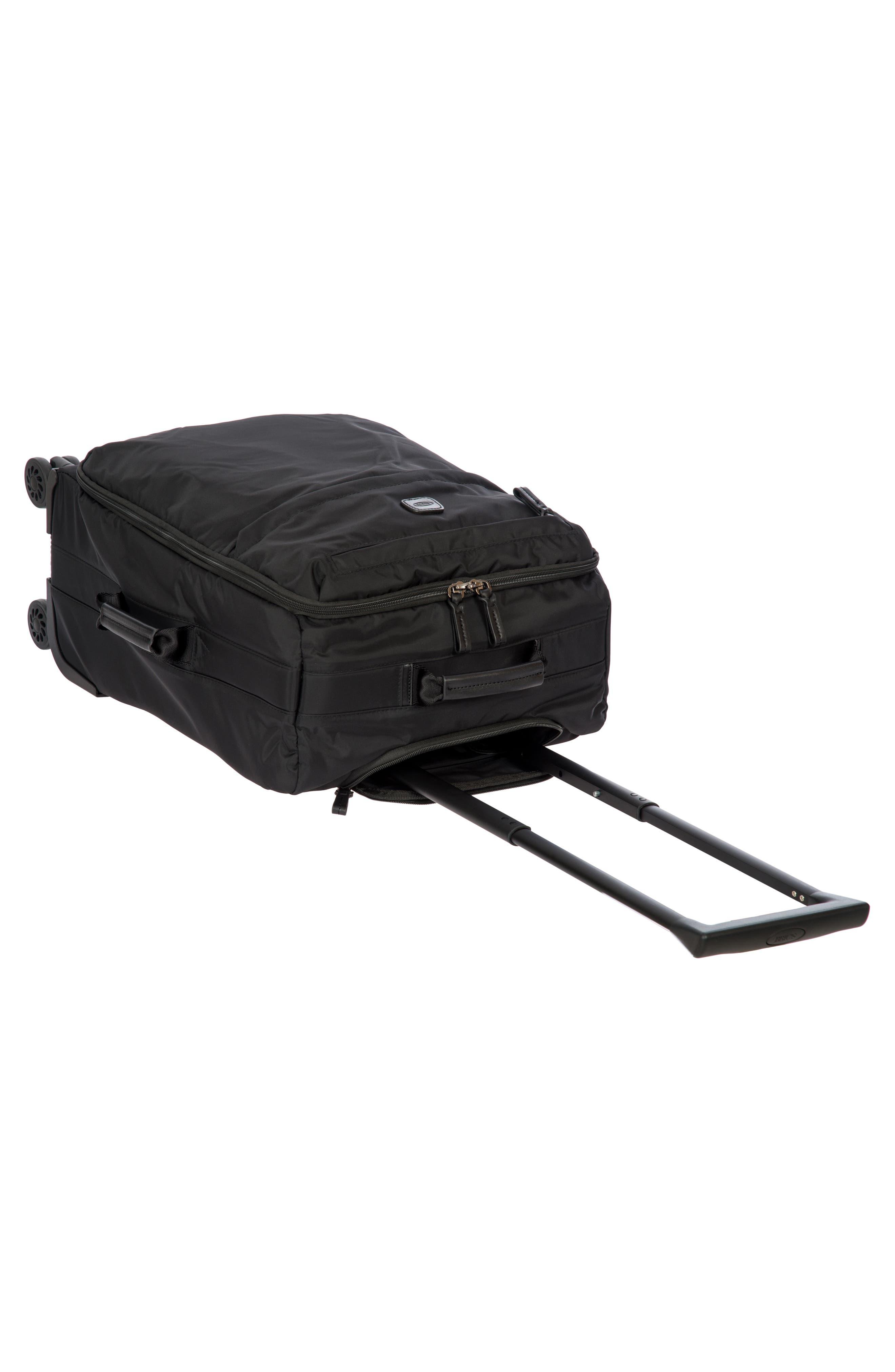 X-Bag 21-Inch Spinner Carry-On,                             Alternate thumbnail 4, color,                             Black/ Black