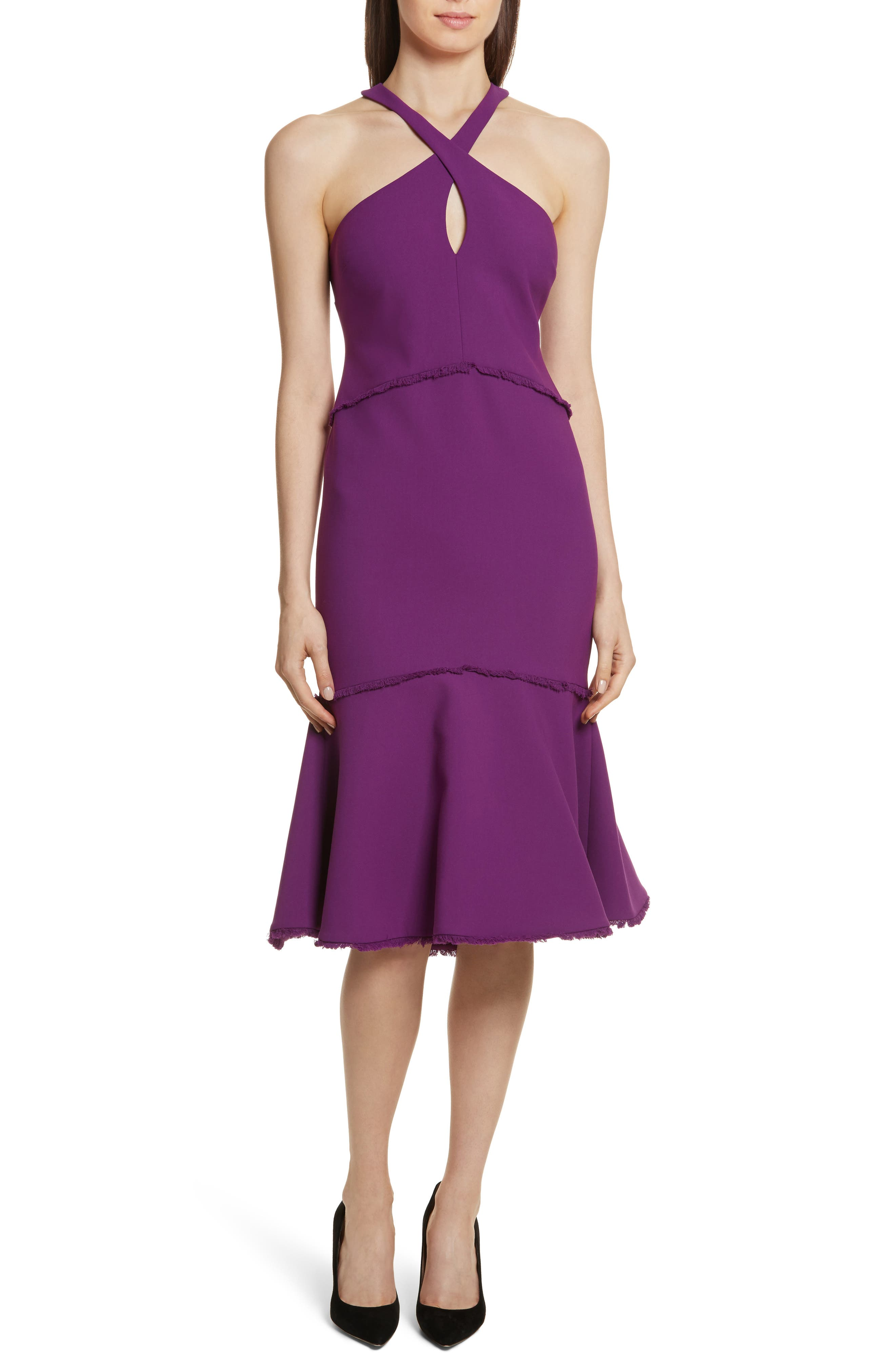 Dante Halter Dress,                         Main,                         color, Amethyst