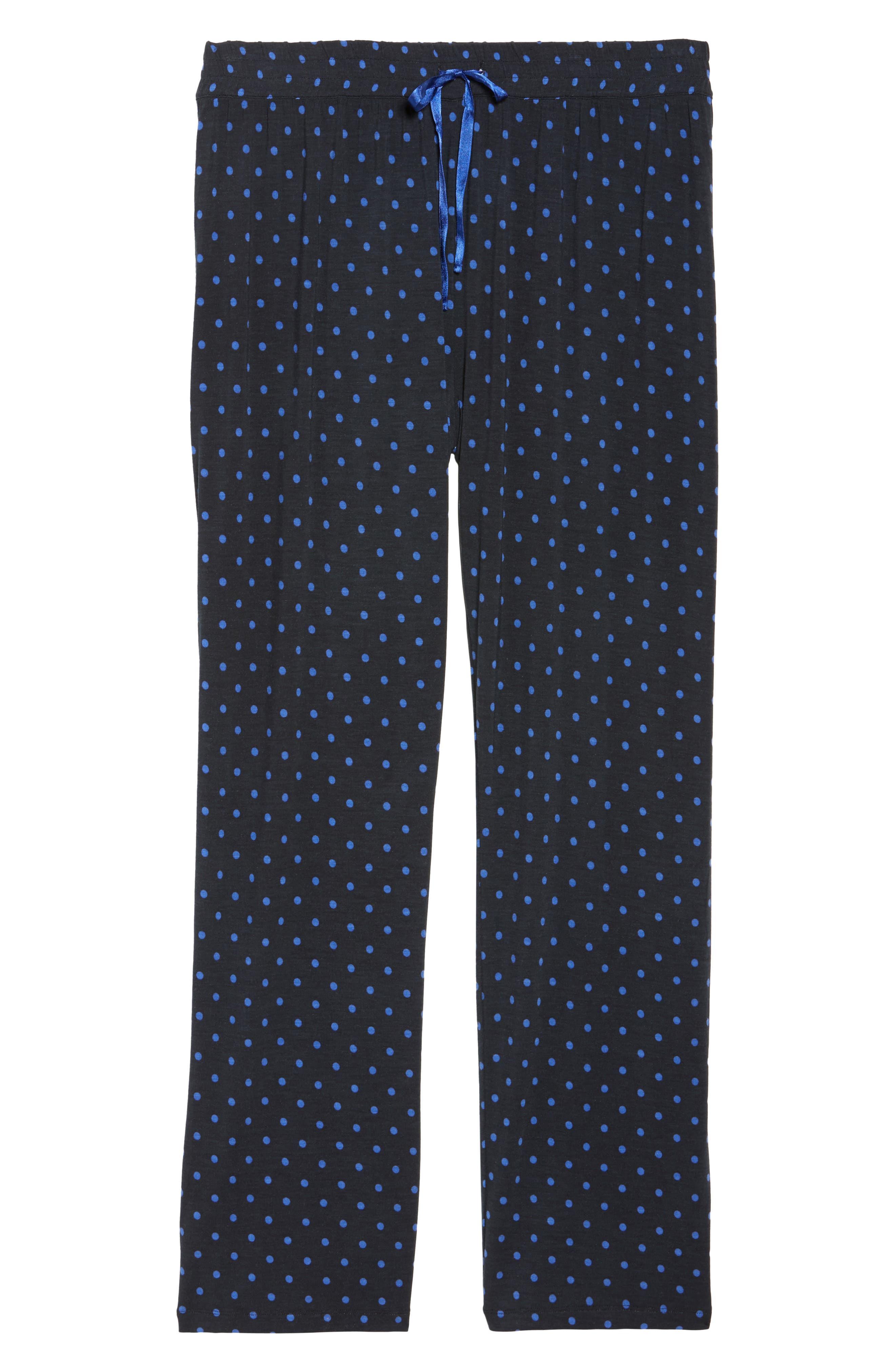 Dot Lounge Pants,                             Alternate thumbnail 4, color,                             Black