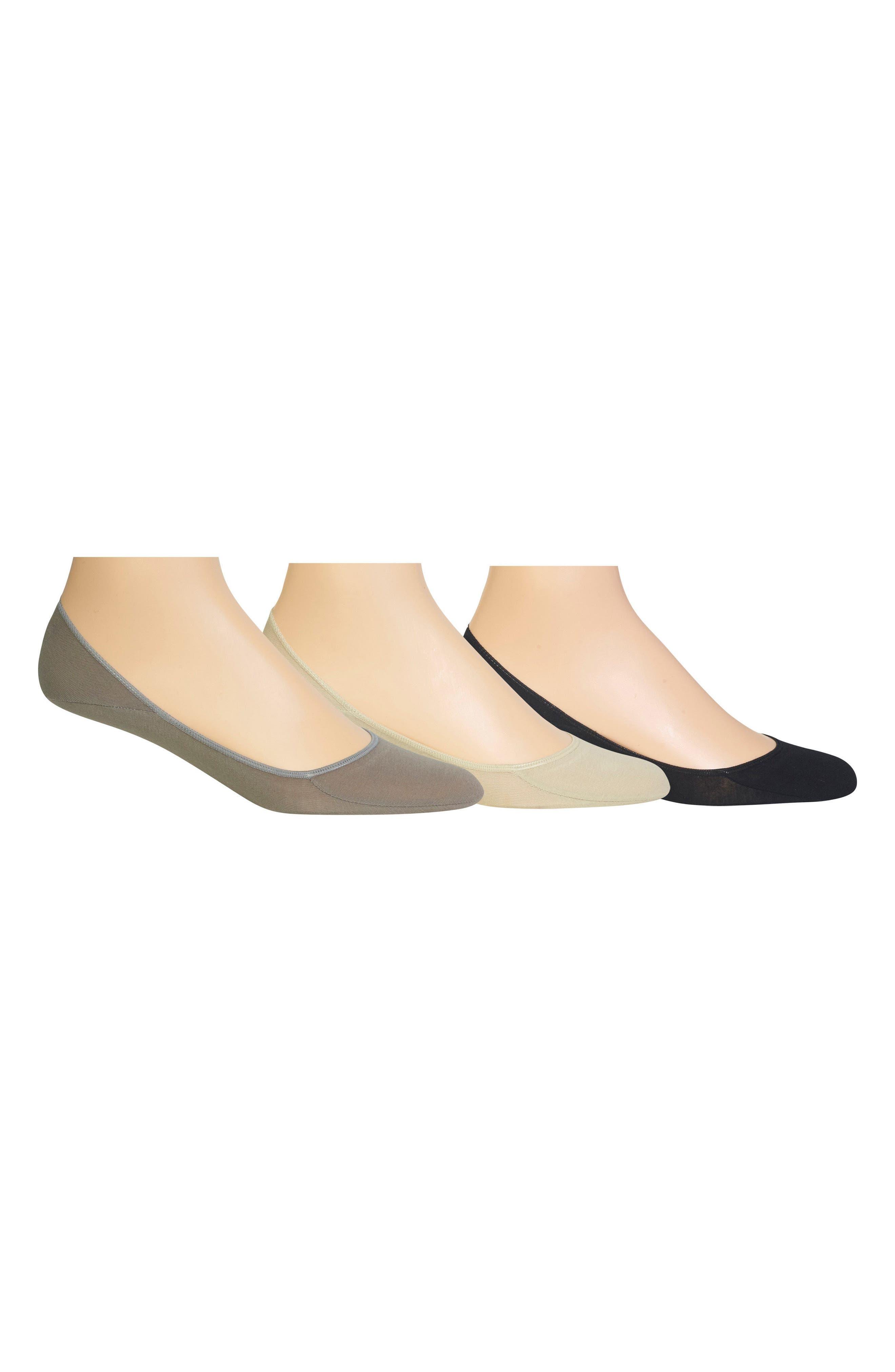 3-Pack Liner Socks,                             Main thumbnail 1, color,                             Grey/ Oyster/ Black