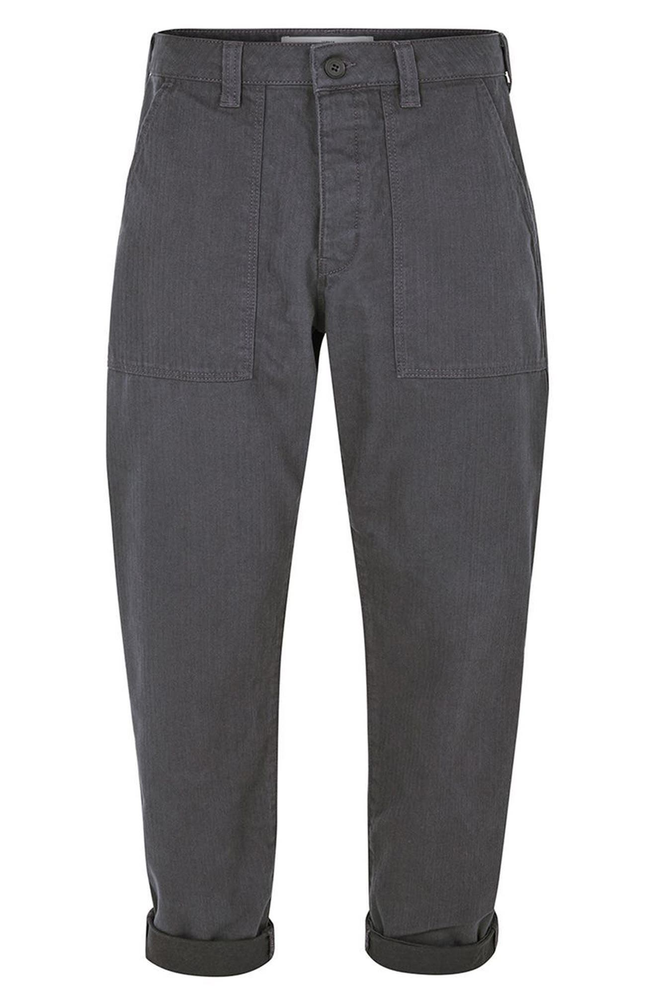 Alternate Image 4  - Topman Original Fit Herringbone Trousers
