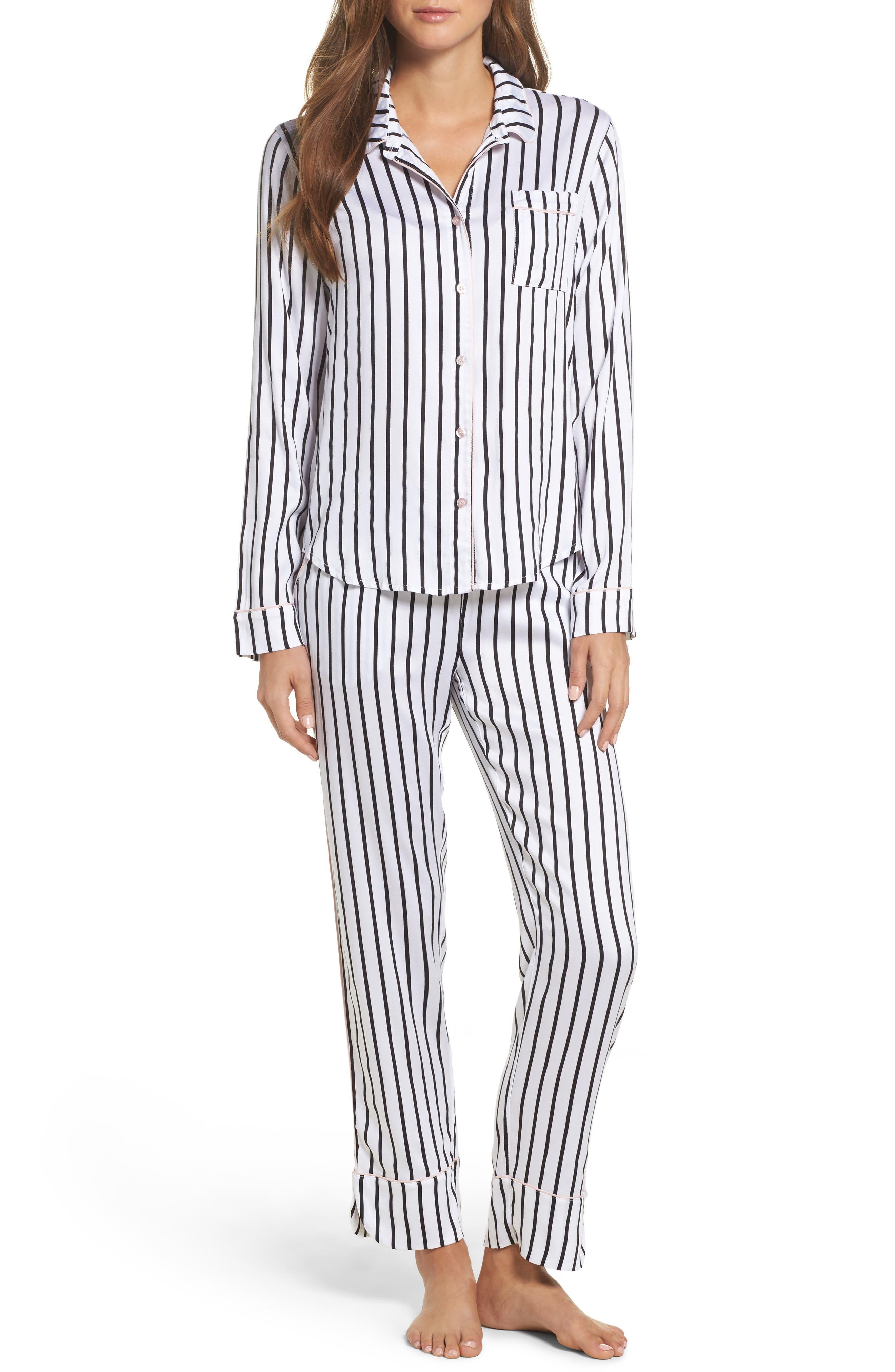 Jersey Pajamas,                             Main thumbnail 1, color,                             Ivory