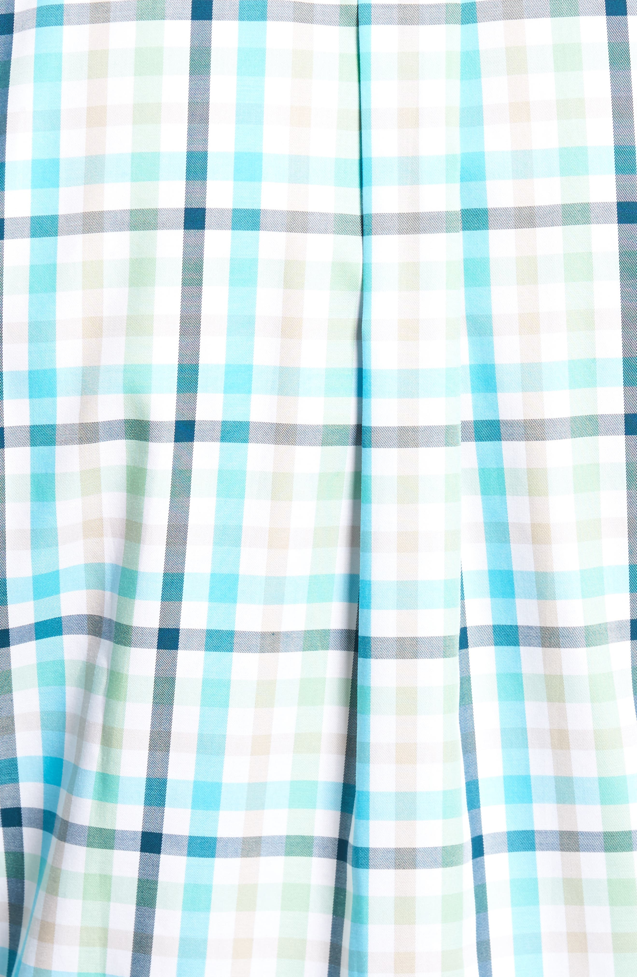 Classic Fit Crown Ease Kohala Check Sport Shirt,                             Alternate thumbnail 5, color,                             Blue Fish