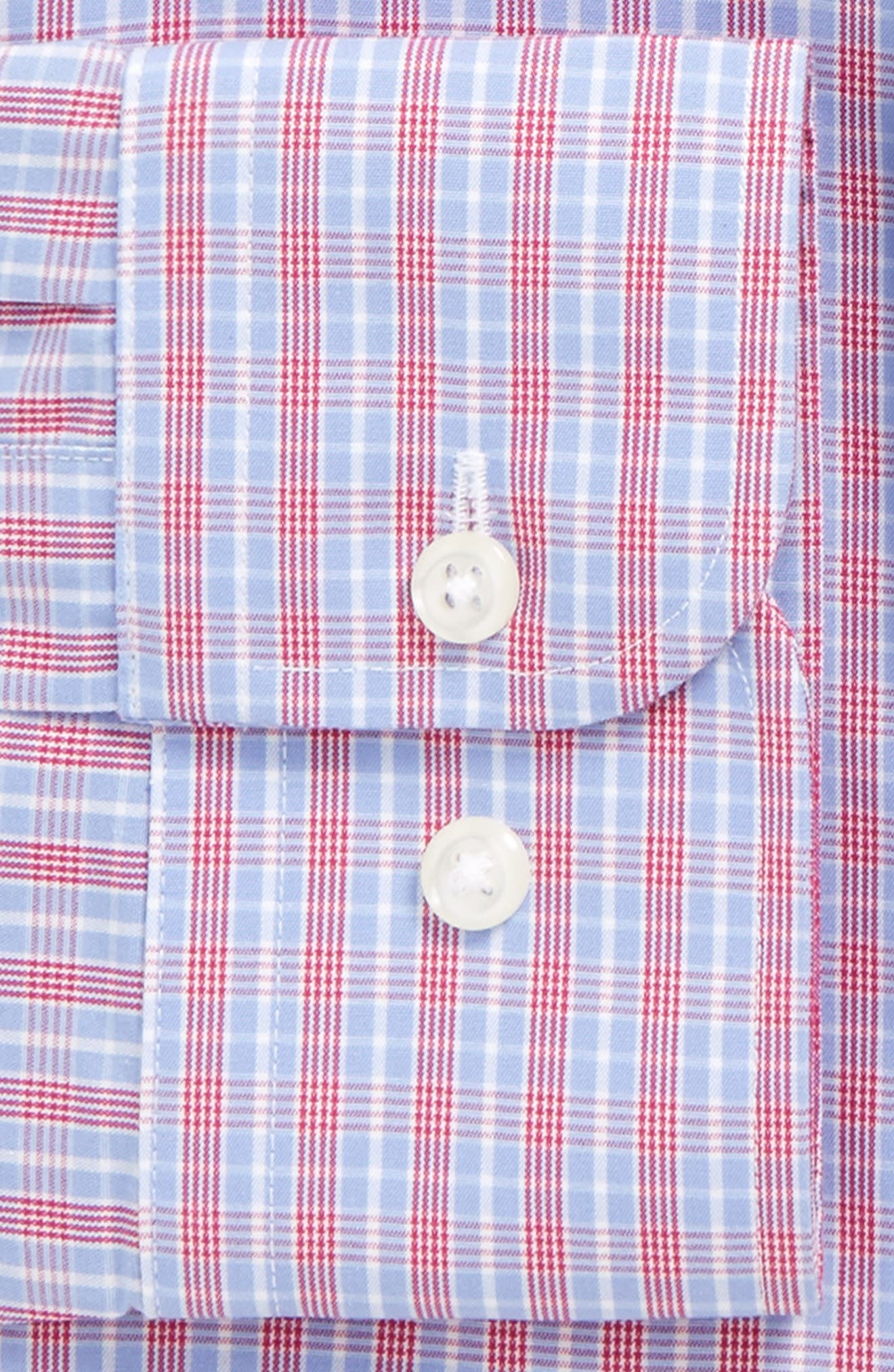 Smartcare<sup>™</sup> Trim Fit Check Dress Shirt,                             Alternate thumbnail 2, color,                             Pink Berry