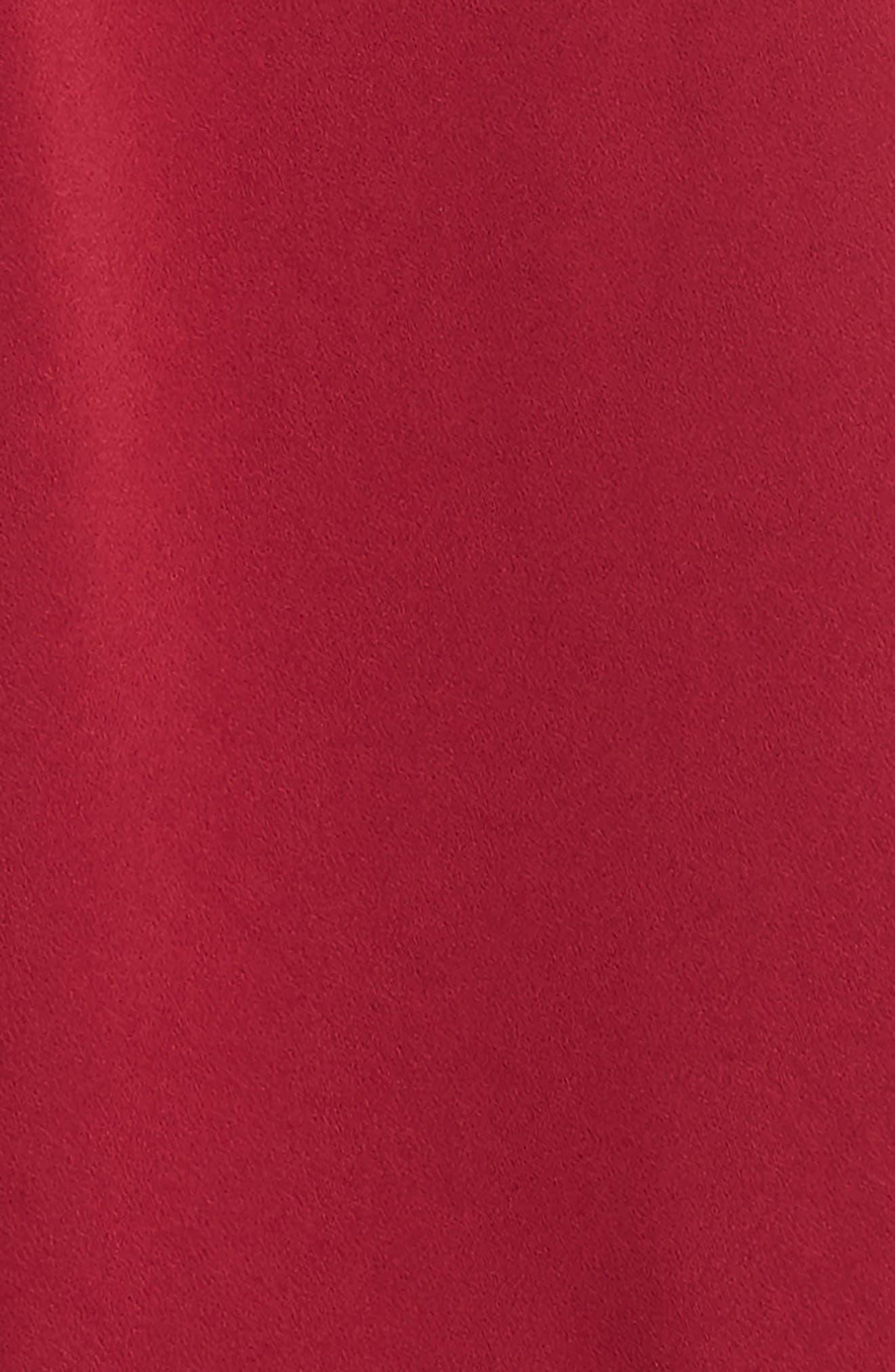Point Collar Dress,                             Alternate thumbnail 3, color,                             Burgundy