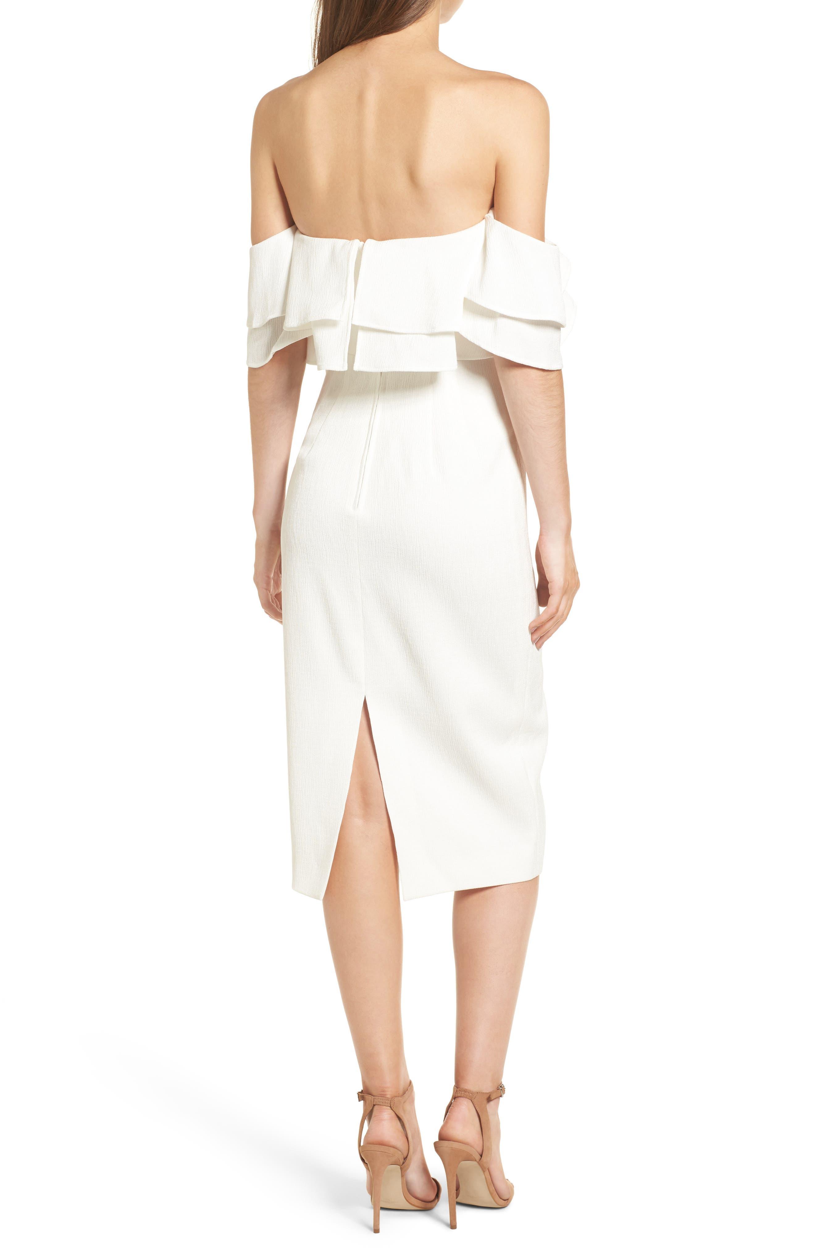 No Reason Off the Shoulder Sheath Dress,                             Alternate thumbnail 2, color,                             Ivory