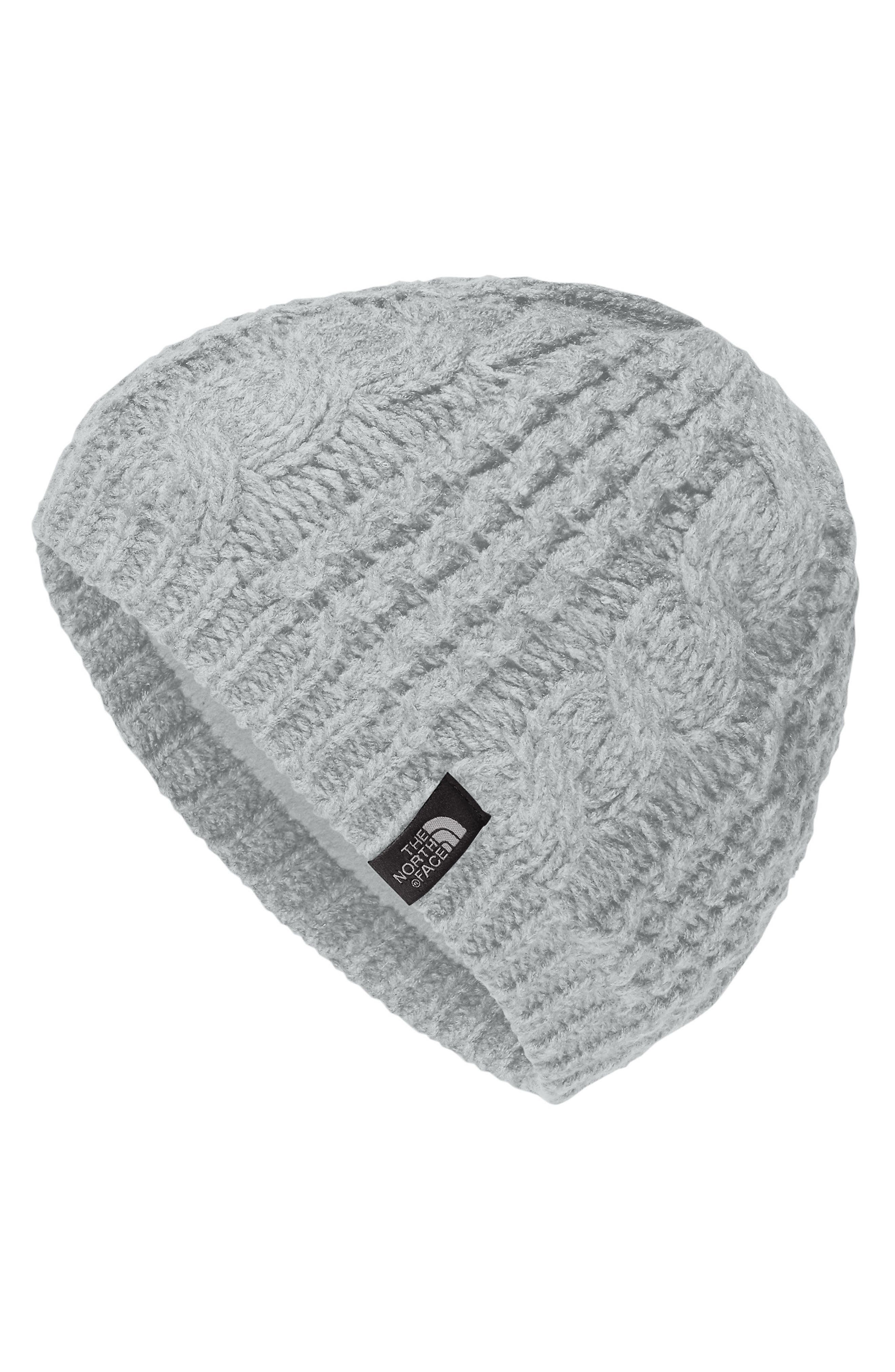 'Minna' Cable Knit Beanie,                             Main thumbnail 1, color,                             High Rise Grey