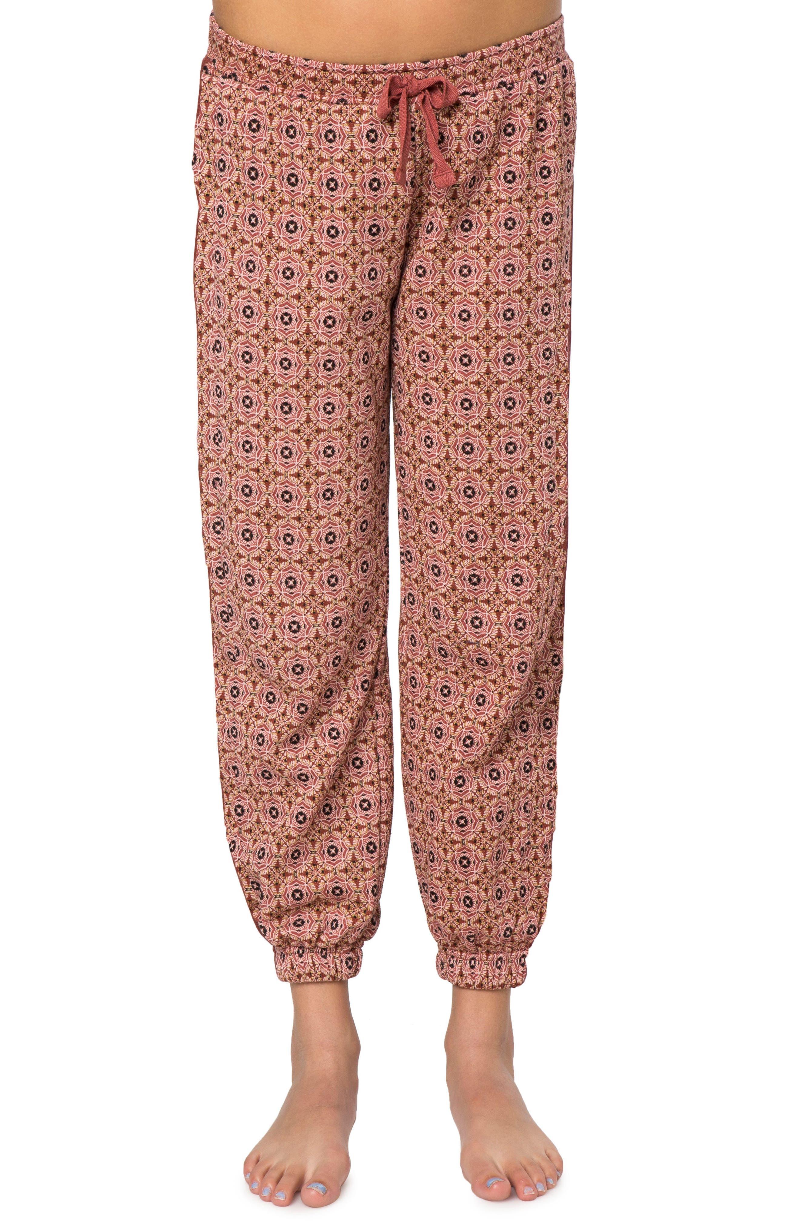Sasha Fleece Jogger Pants,                         Main,                         color, Red Multi Color