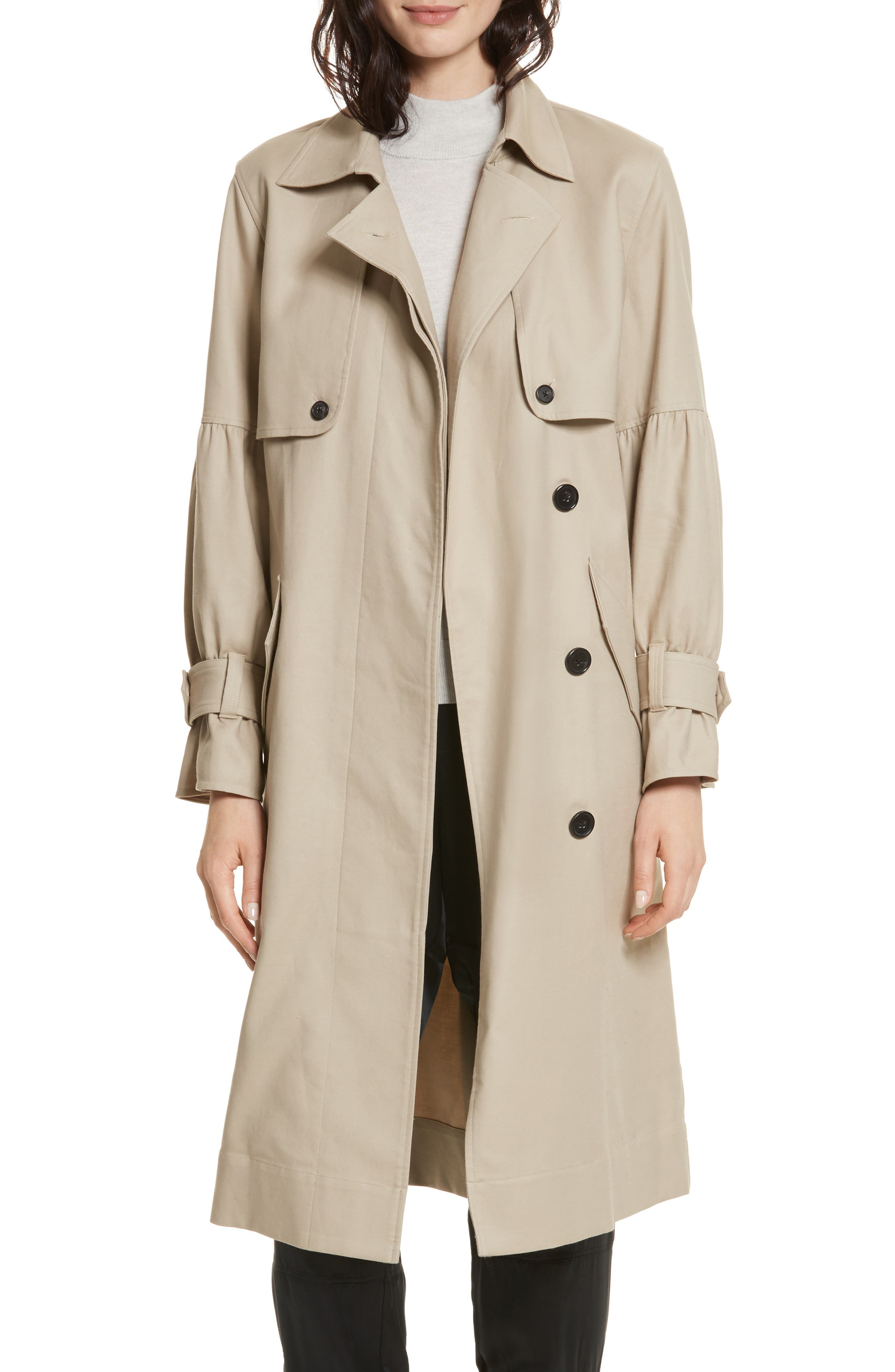Joie Alwena Cotton Trench Coat