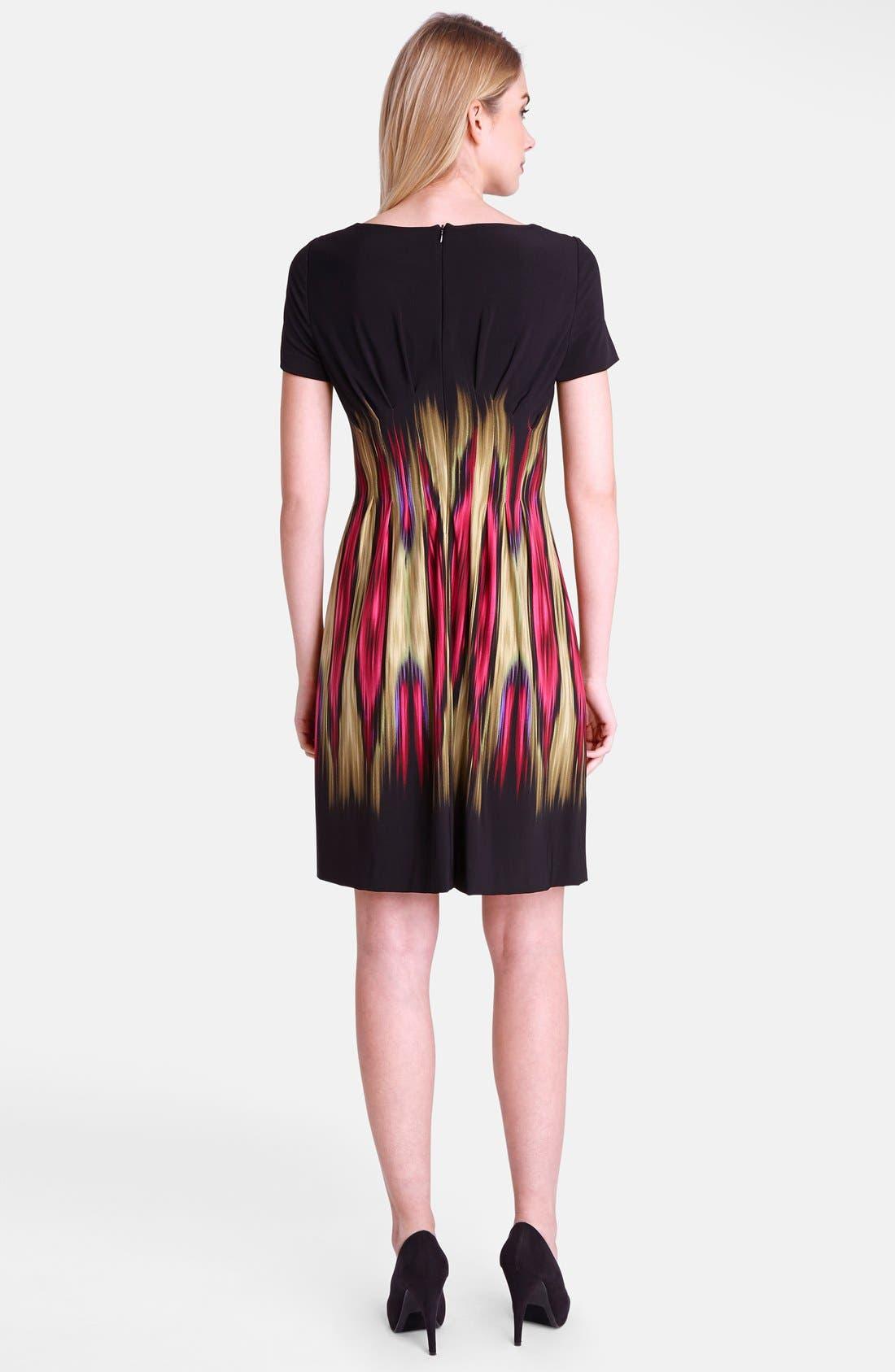 Alternate Image 2  - Tahari 'Blur' Print Split Neck Sheath Dress (Regular & Petite)