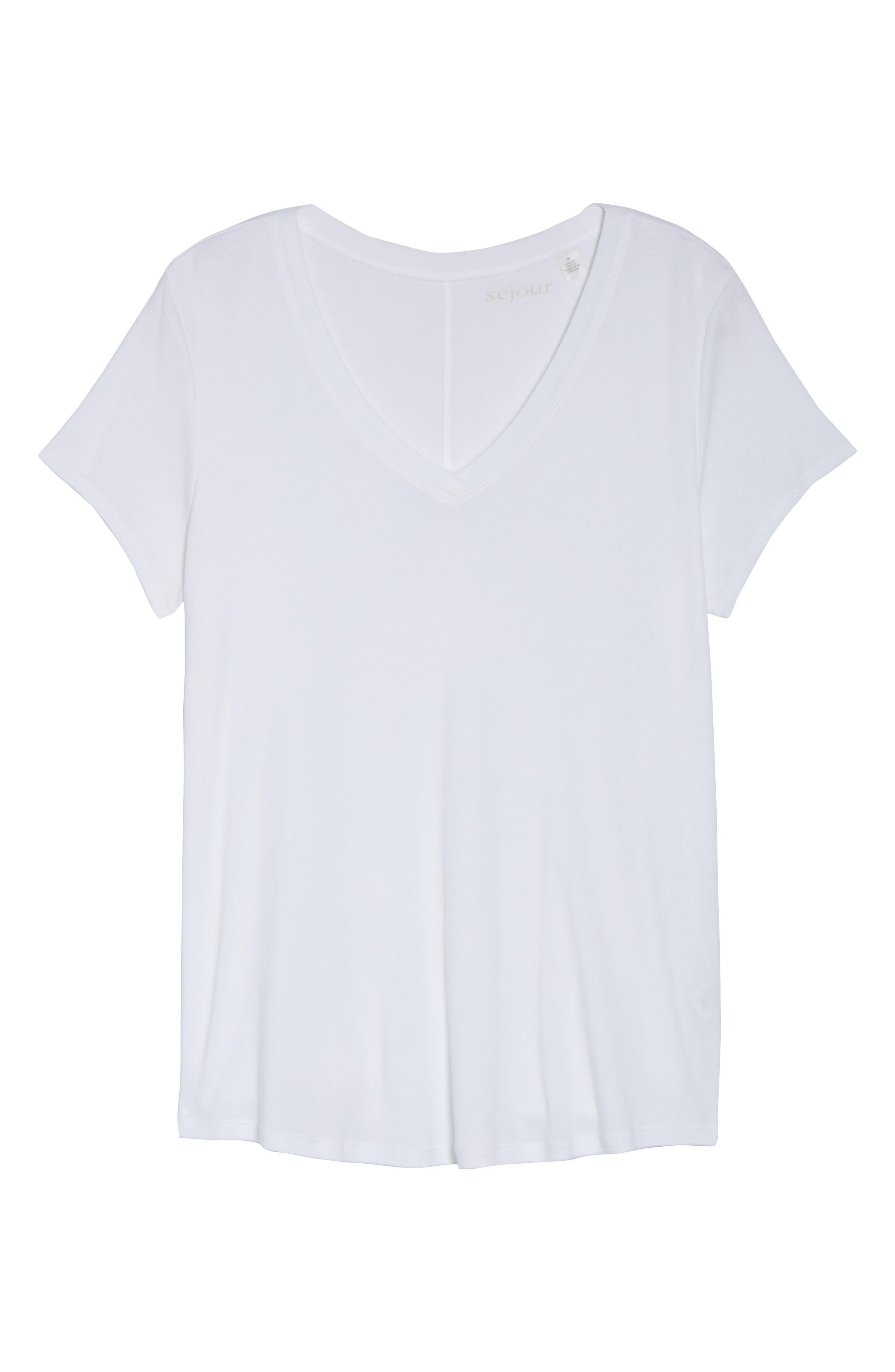 Main Image - Sejour Short Sleeve V-Neck Tee (Plus Size)