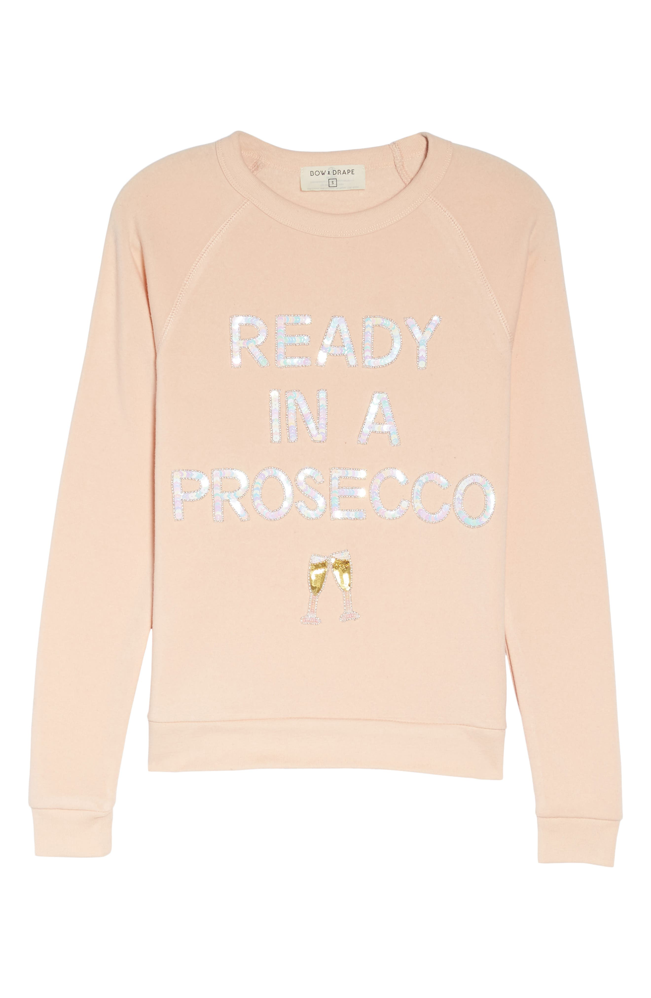 Ready in a Prosecco Sweatshirt,                             Alternate thumbnail 6, color,                             Blush