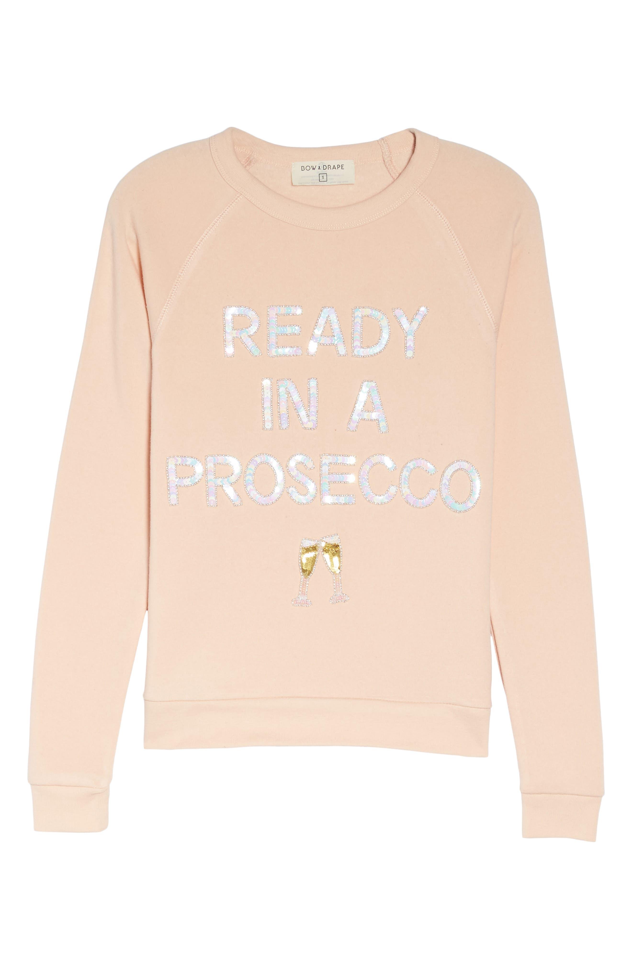 Alternate Image 6  - Bow & Drape Ready in a Prosecco Sweatshirt