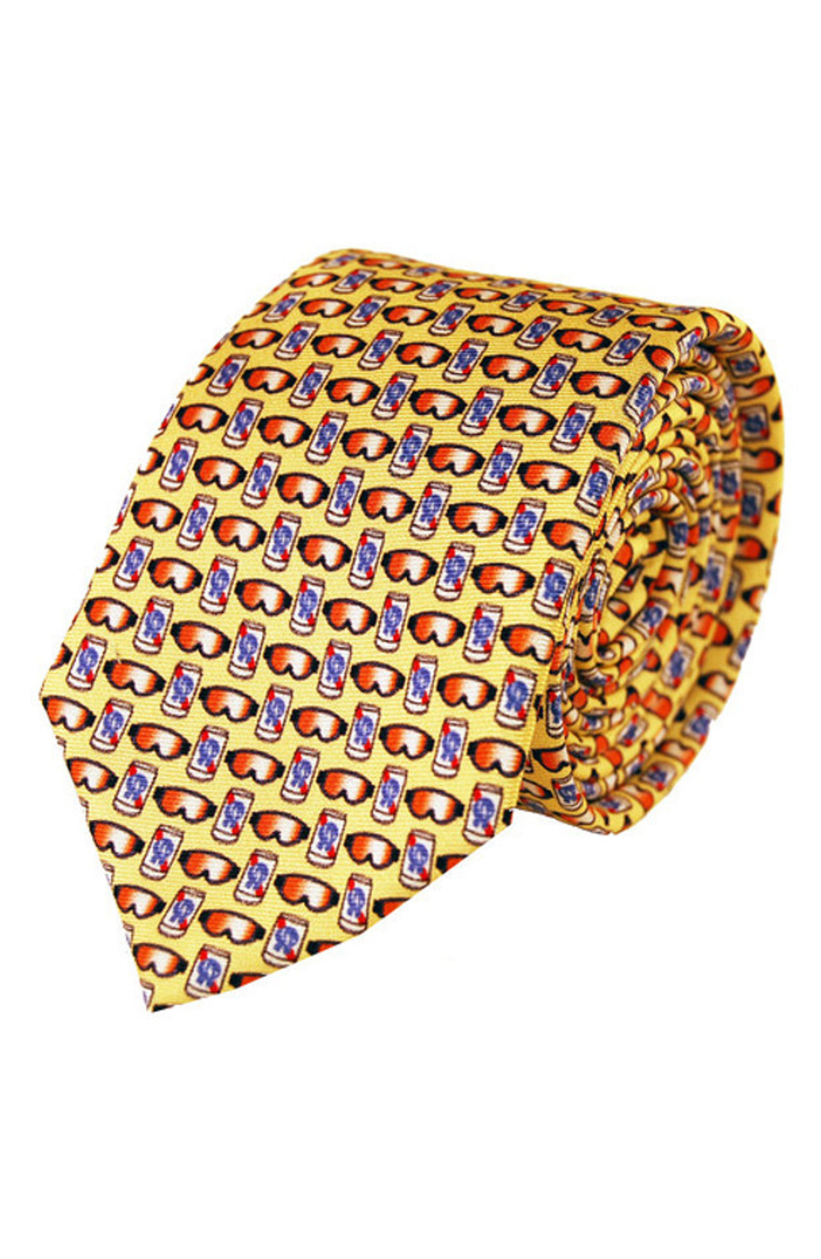 Beer Goggles Silk Tie,                         Main,                         color, Yellow