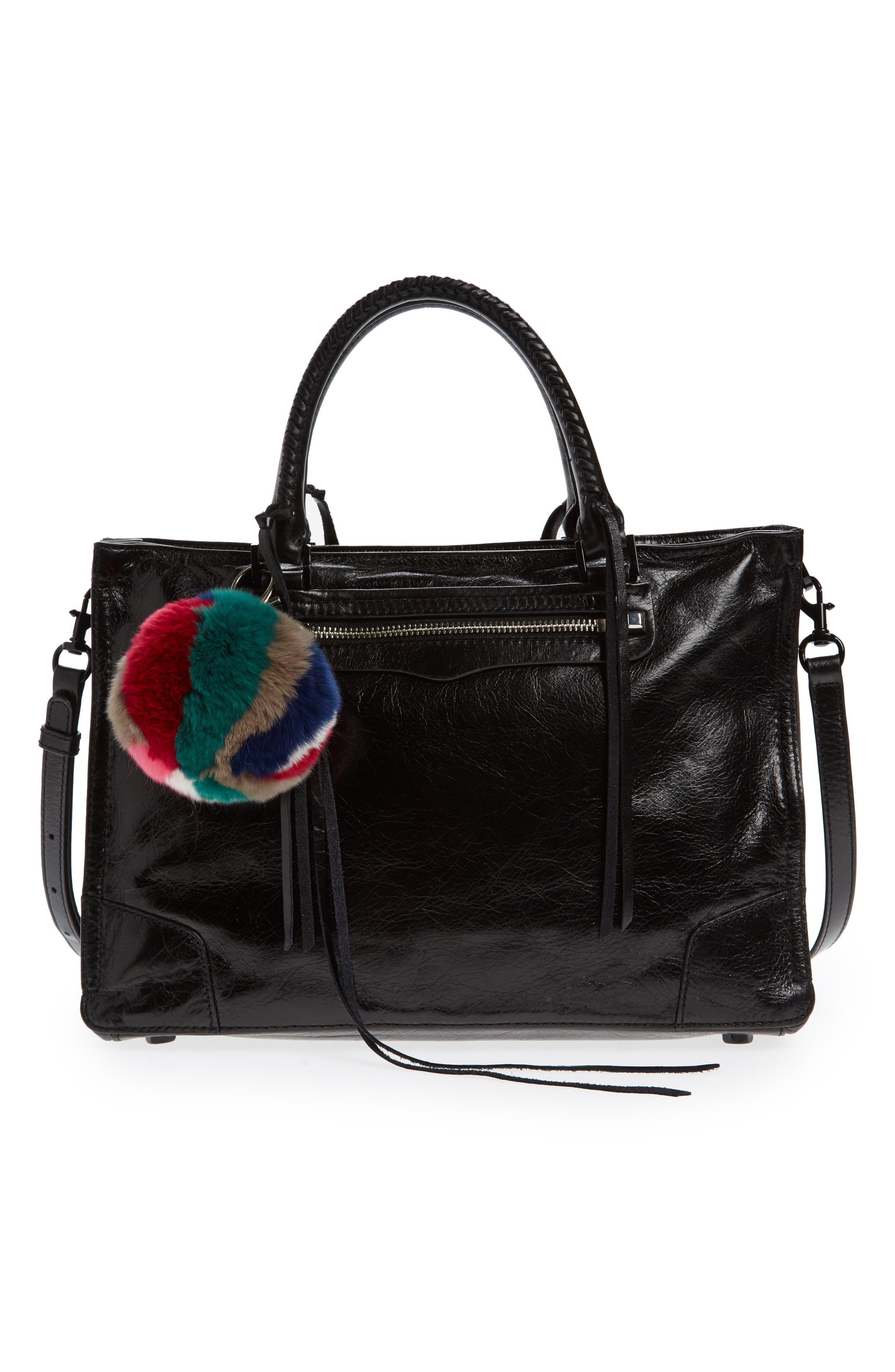 Genuine Fox Fur Bag Charm,                             Alternate thumbnail 2, color,                             Bright Multi