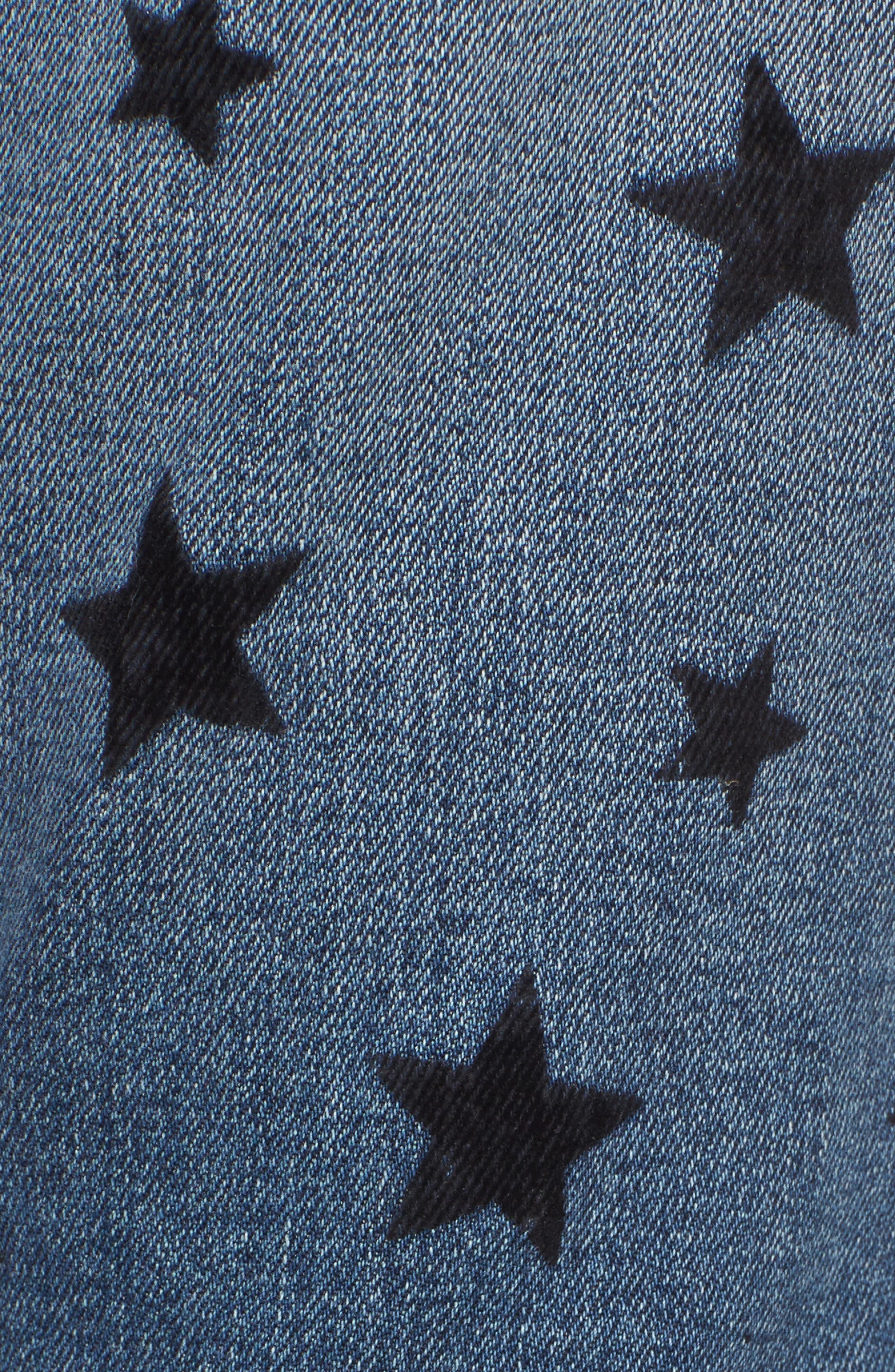 The Stiletto Skinny Jeans,                             Alternate thumbnail 5, color,                             Flocked Star