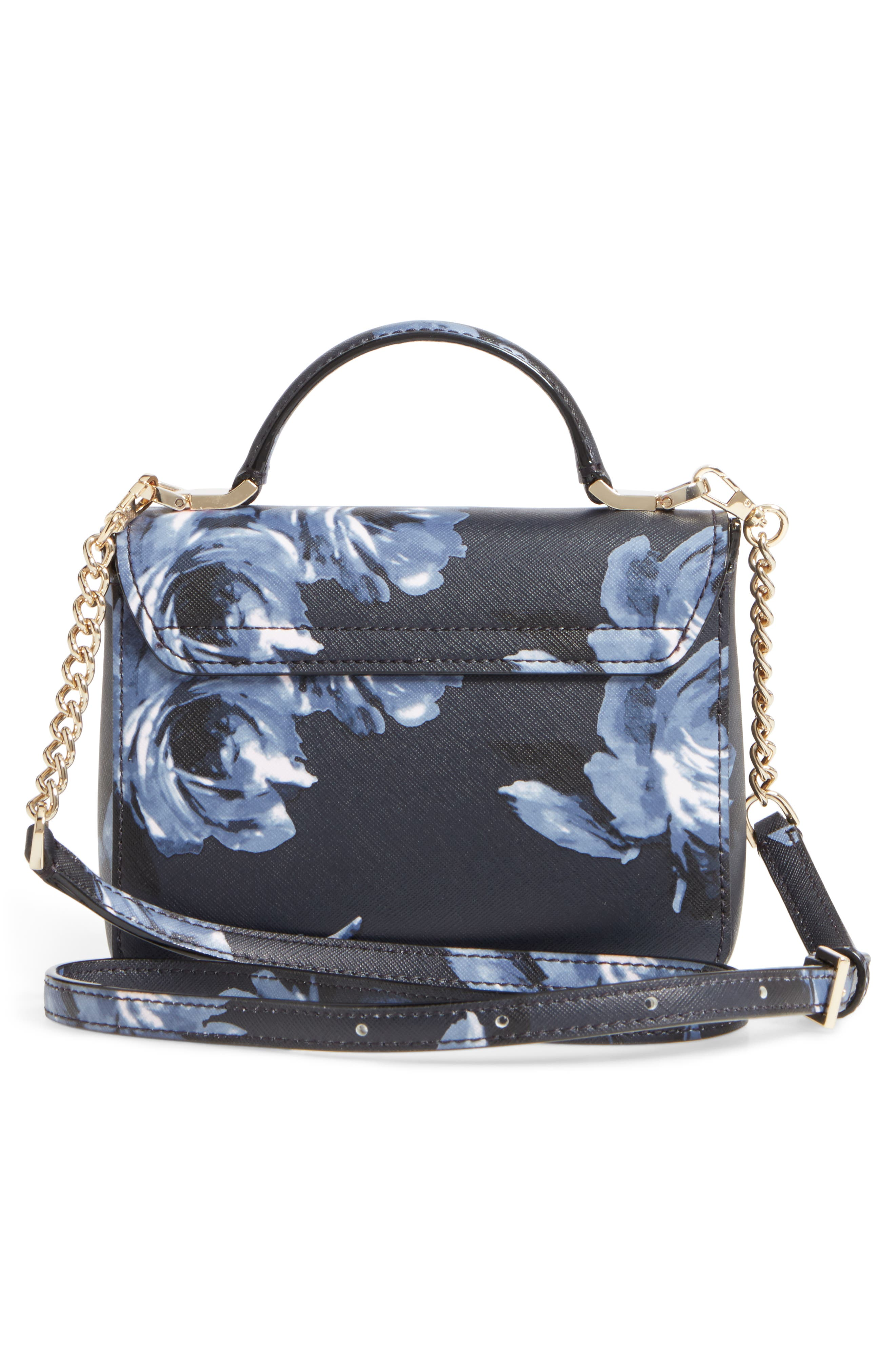 cameron street rose - hope leather crossbody bag,                             Alternate thumbnail 3, color,                             Rich Navy Multi