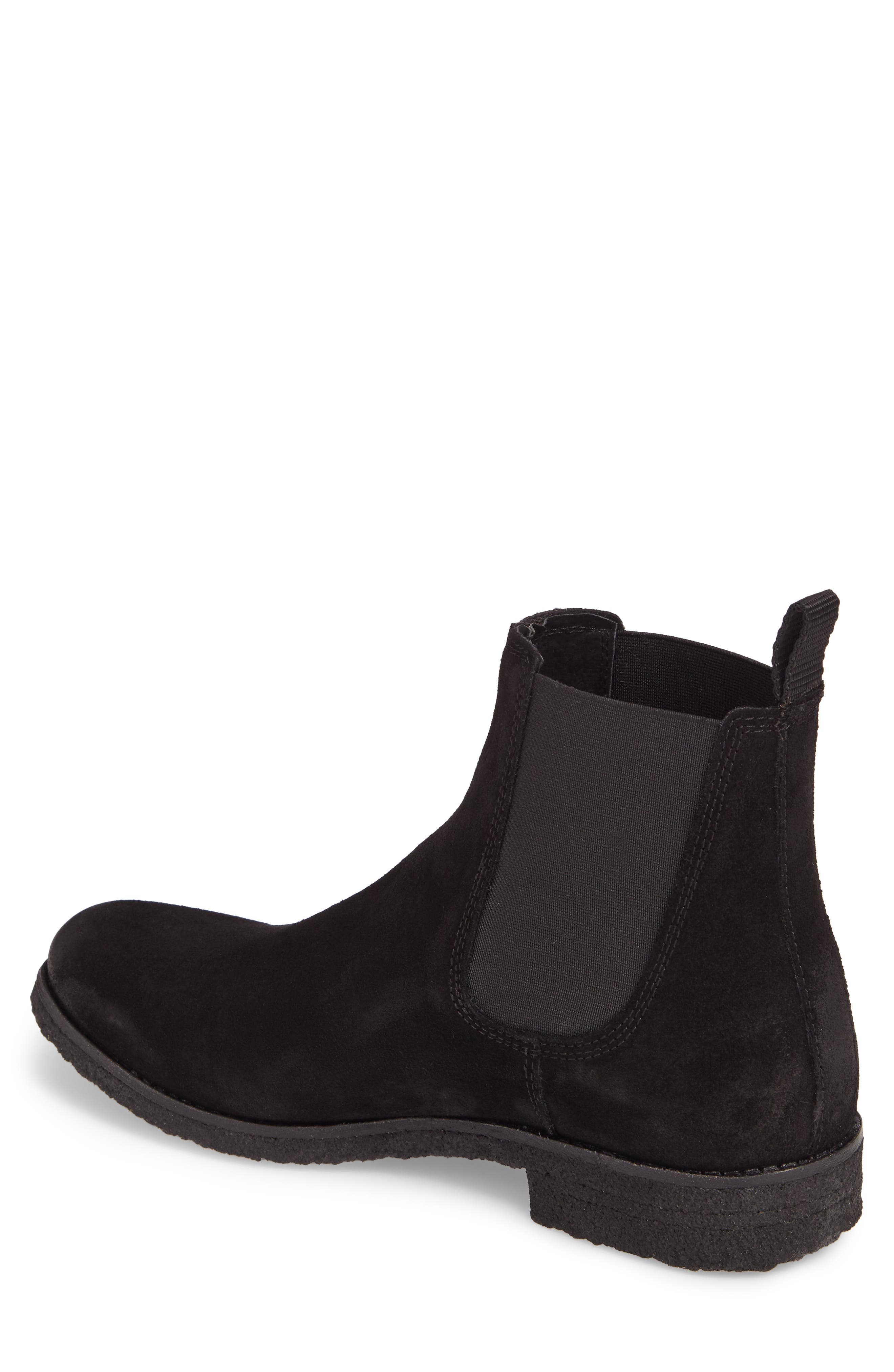 Jared Chelsea Boot,                             Alternate thumbnail 2, color,                             Black Suede